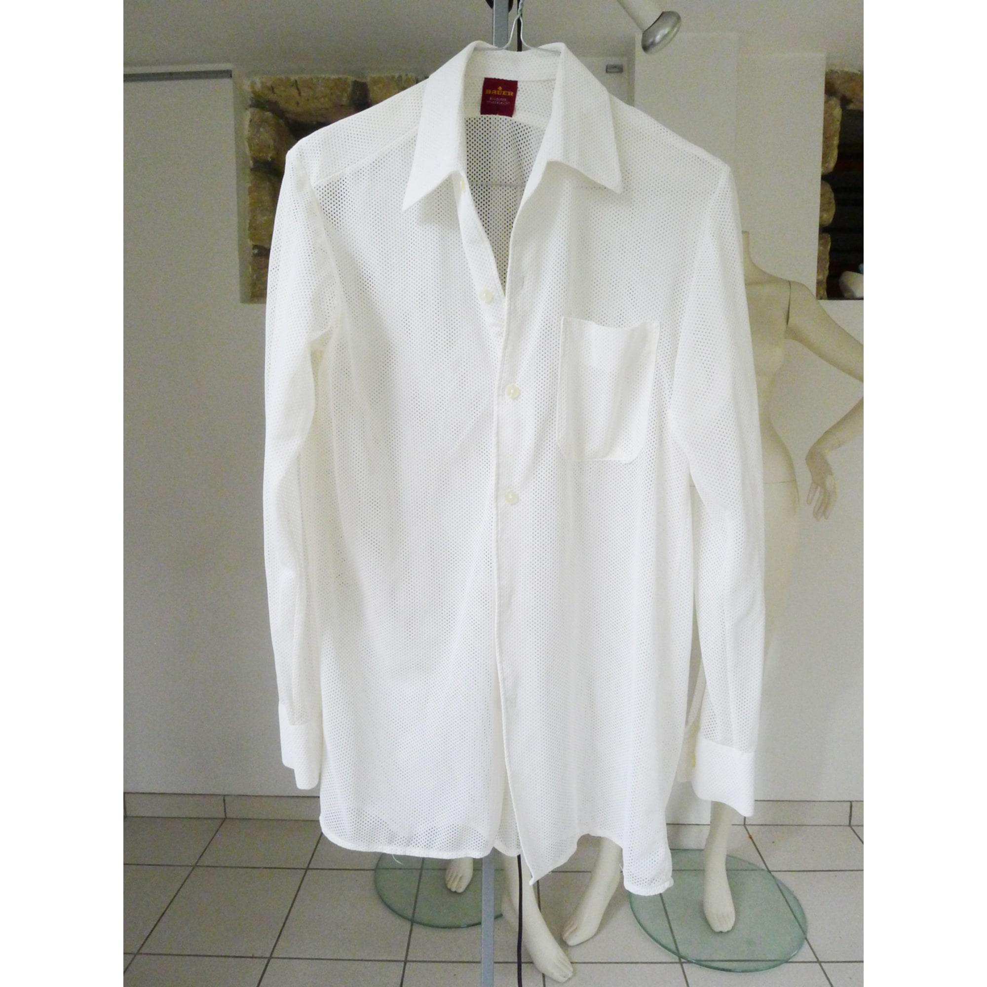 Chemise BAUER Blanc, blanc cassé, écru