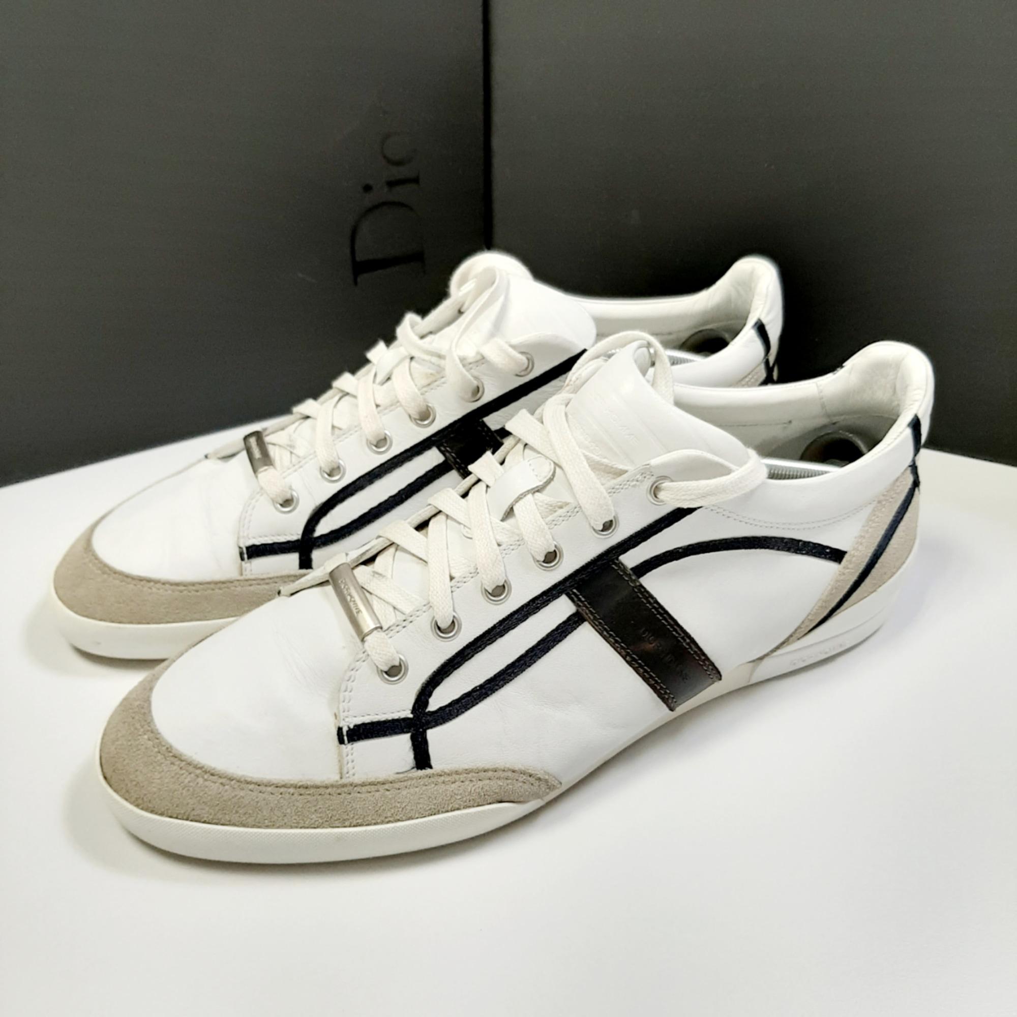 Baskets DIOR Blanc, blanc cassé, écru