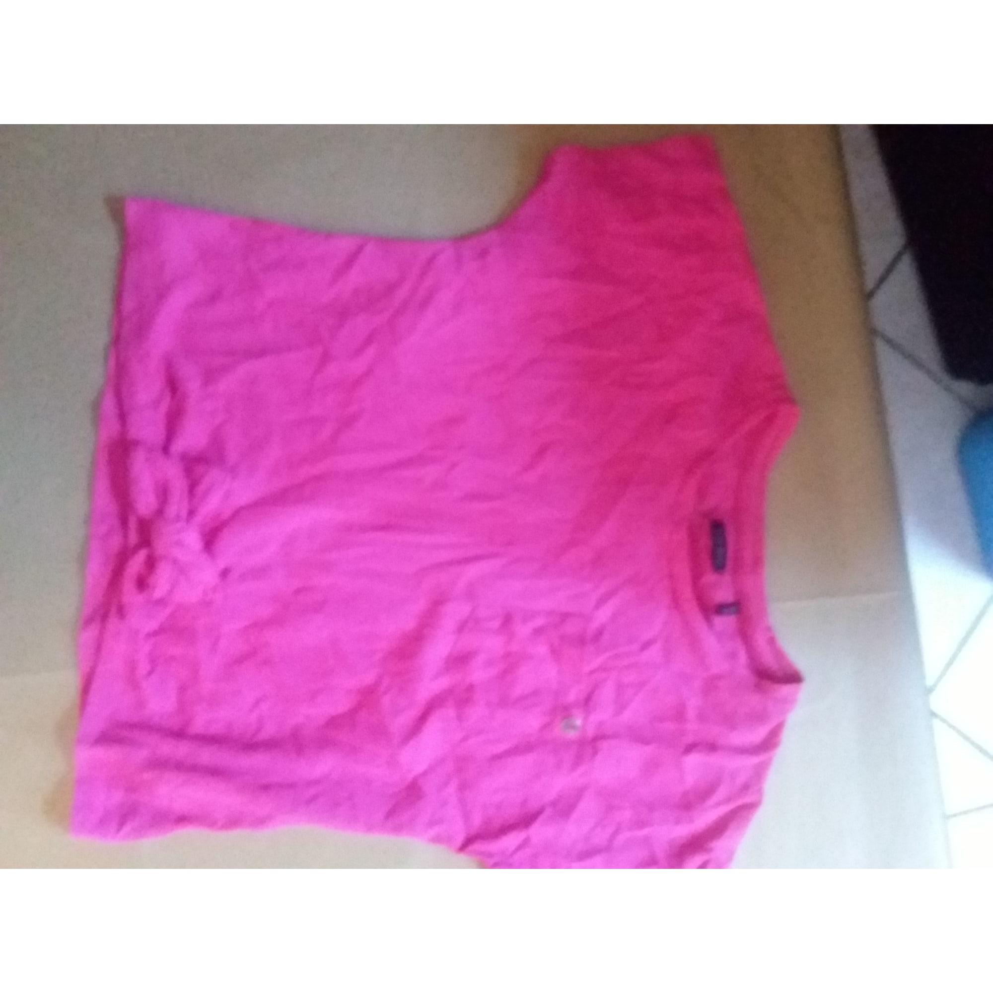 Top, Tee-shirt IKKS Rose, fuschia, vieux rose