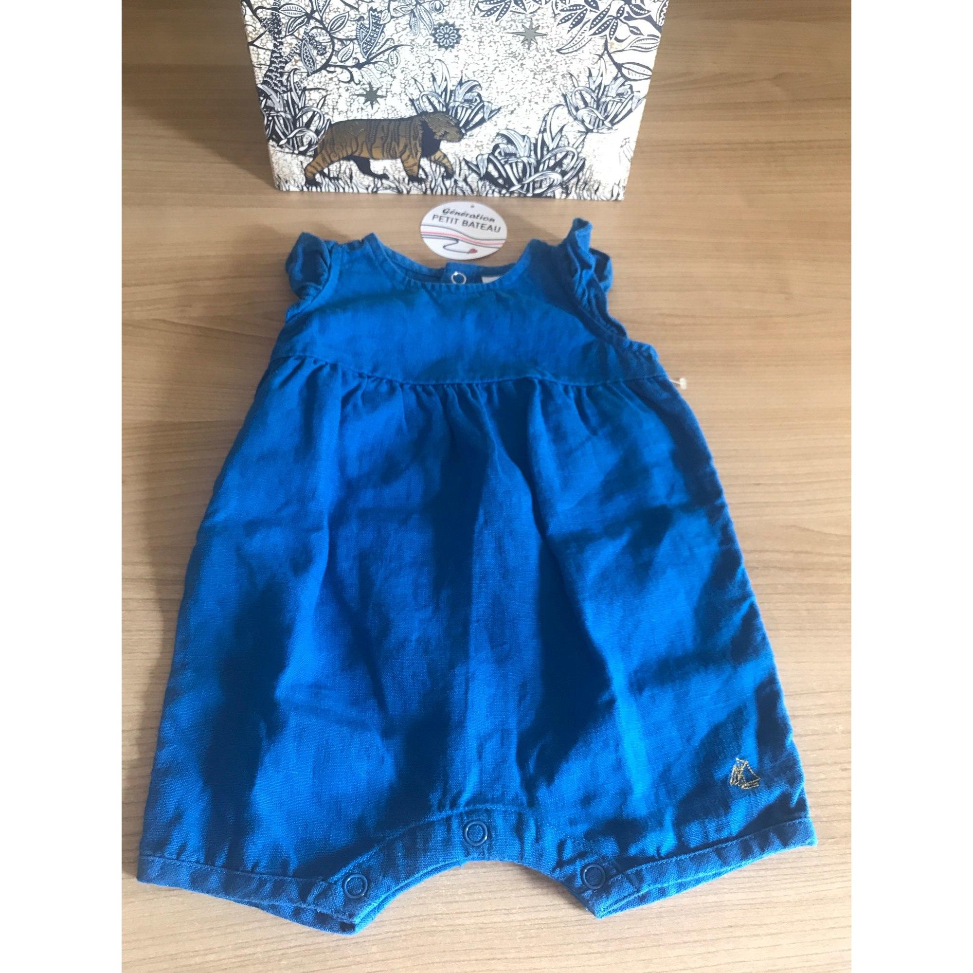 Ensemble & Combinaison short PETIT BATEAU Bleu, bleu marine, bleu turquoise