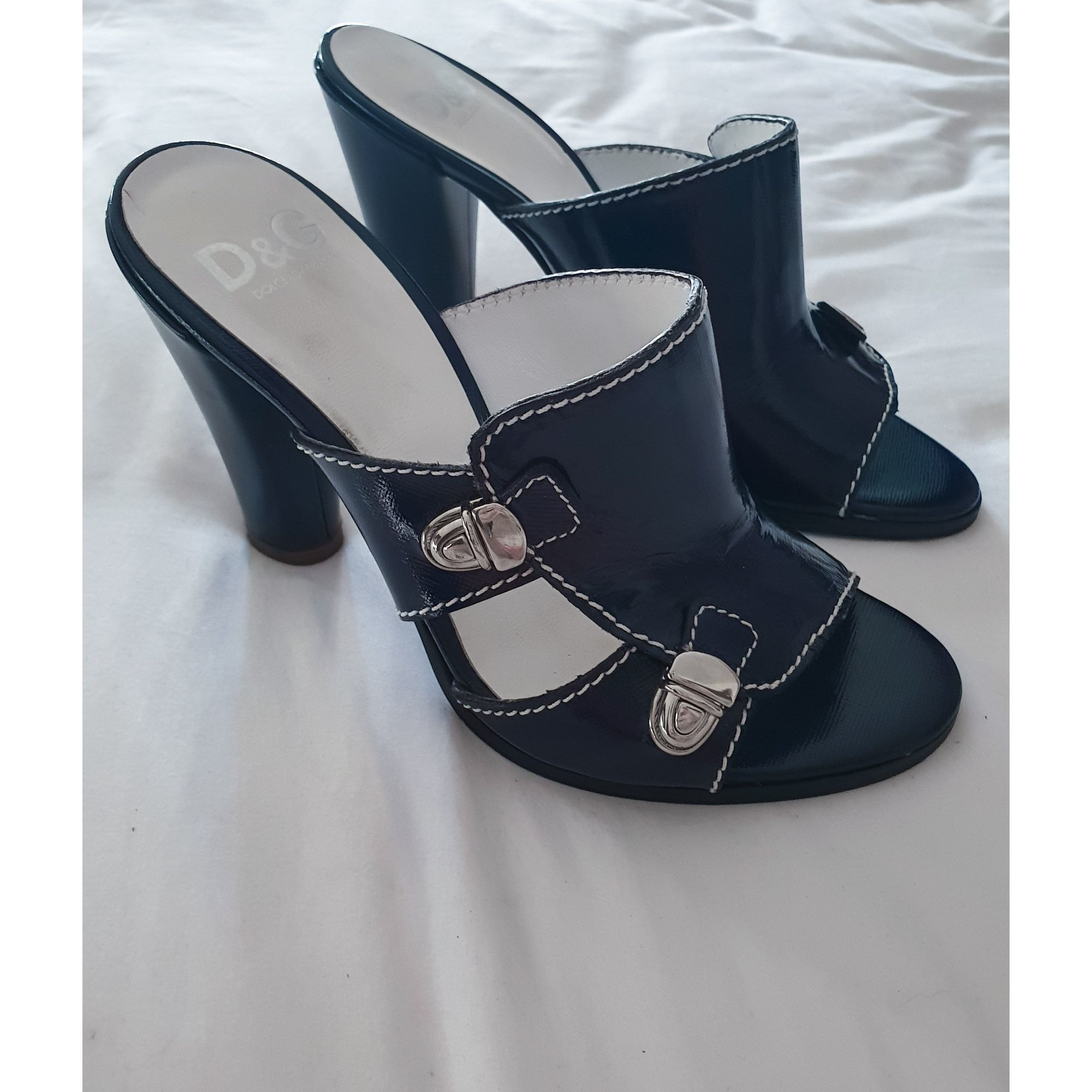 Mules DOLCE & GABBANA Bleu, bleu marine, bleu turquoise