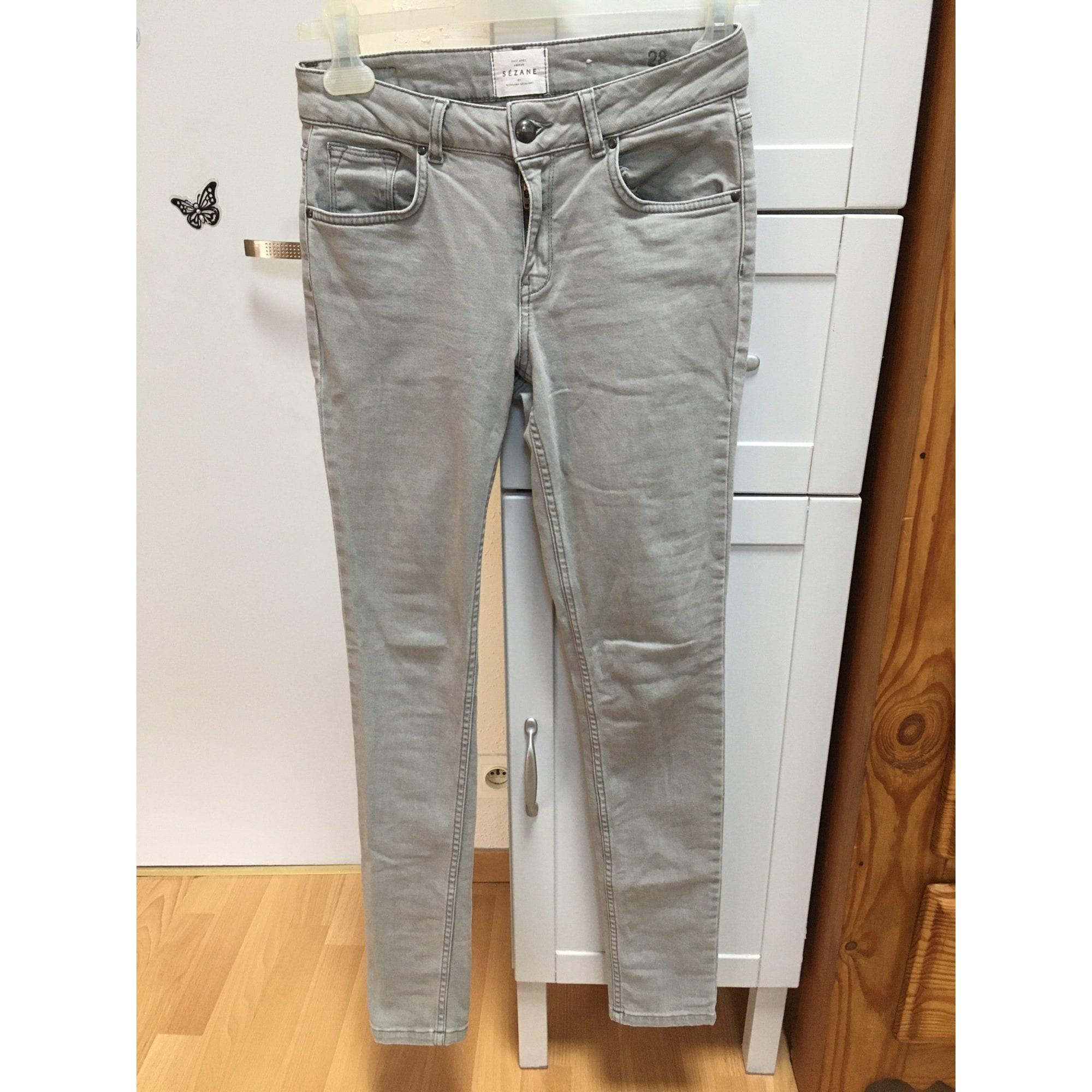 Jeans slim SÉZANE Gris, anthracite