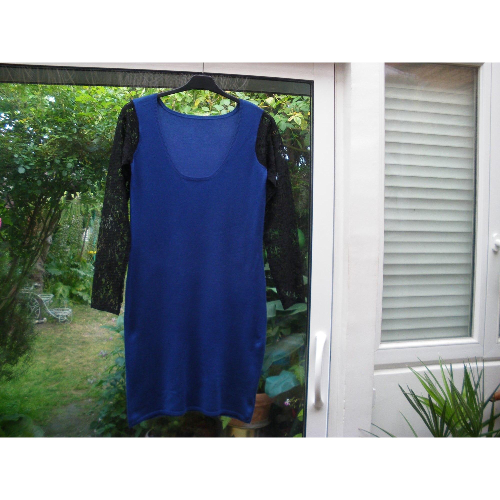 Robe mi-longue VINTAGE Bleu, bleu marine, bleu turquoise