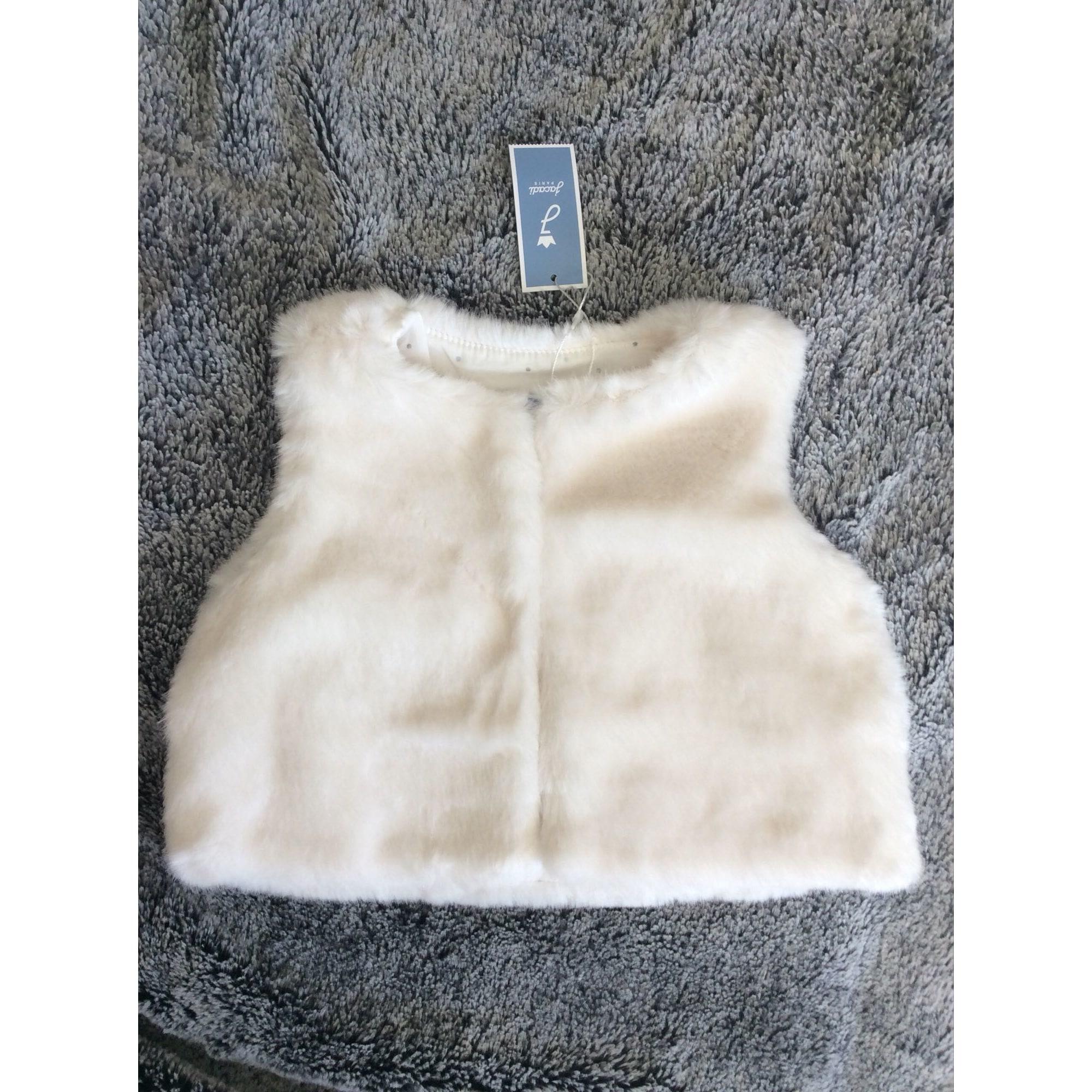 Manteau JACADI Blanc, blanc cassé, écru