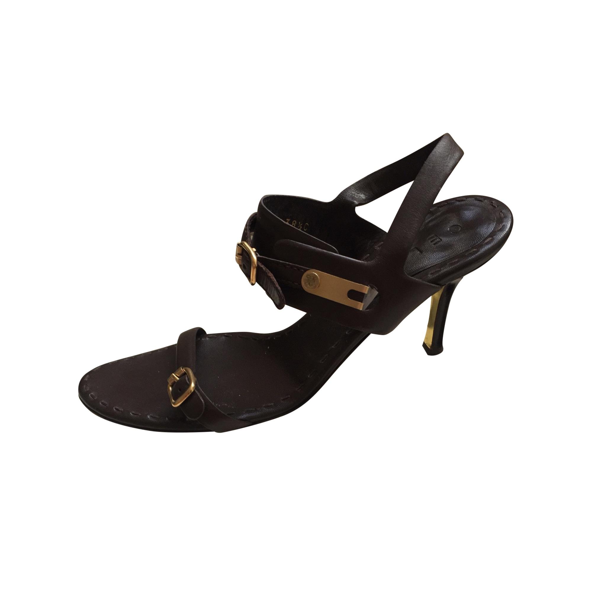 Sandales à talons CÉLINE Marron