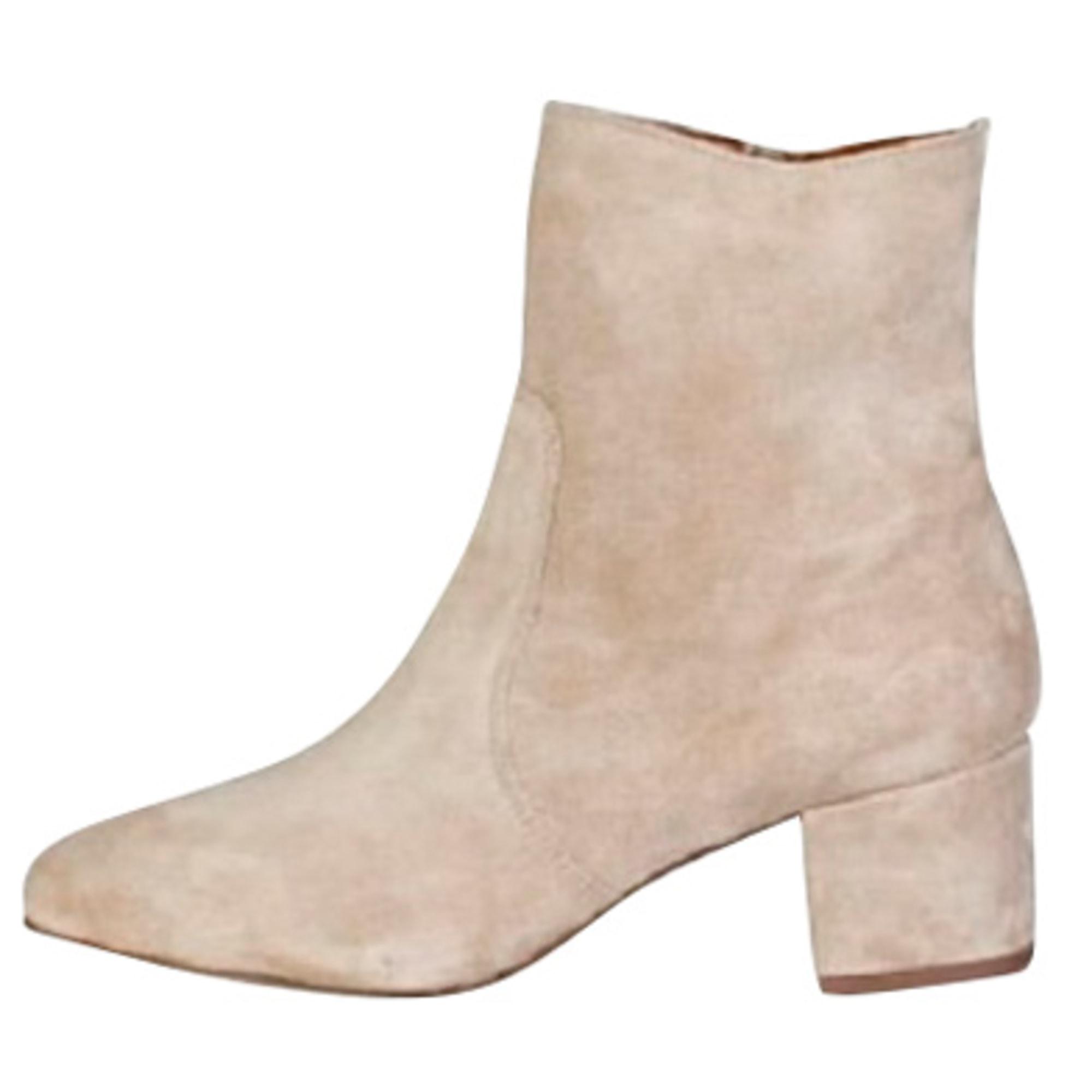 Bottines & low boots à talons V 19.69 Beige, camel