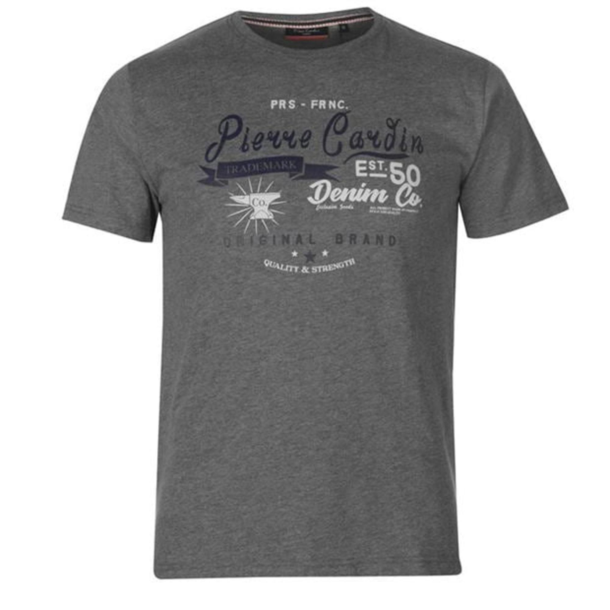 Tee-shirt PIERRE CARDIN Gris, anthracite