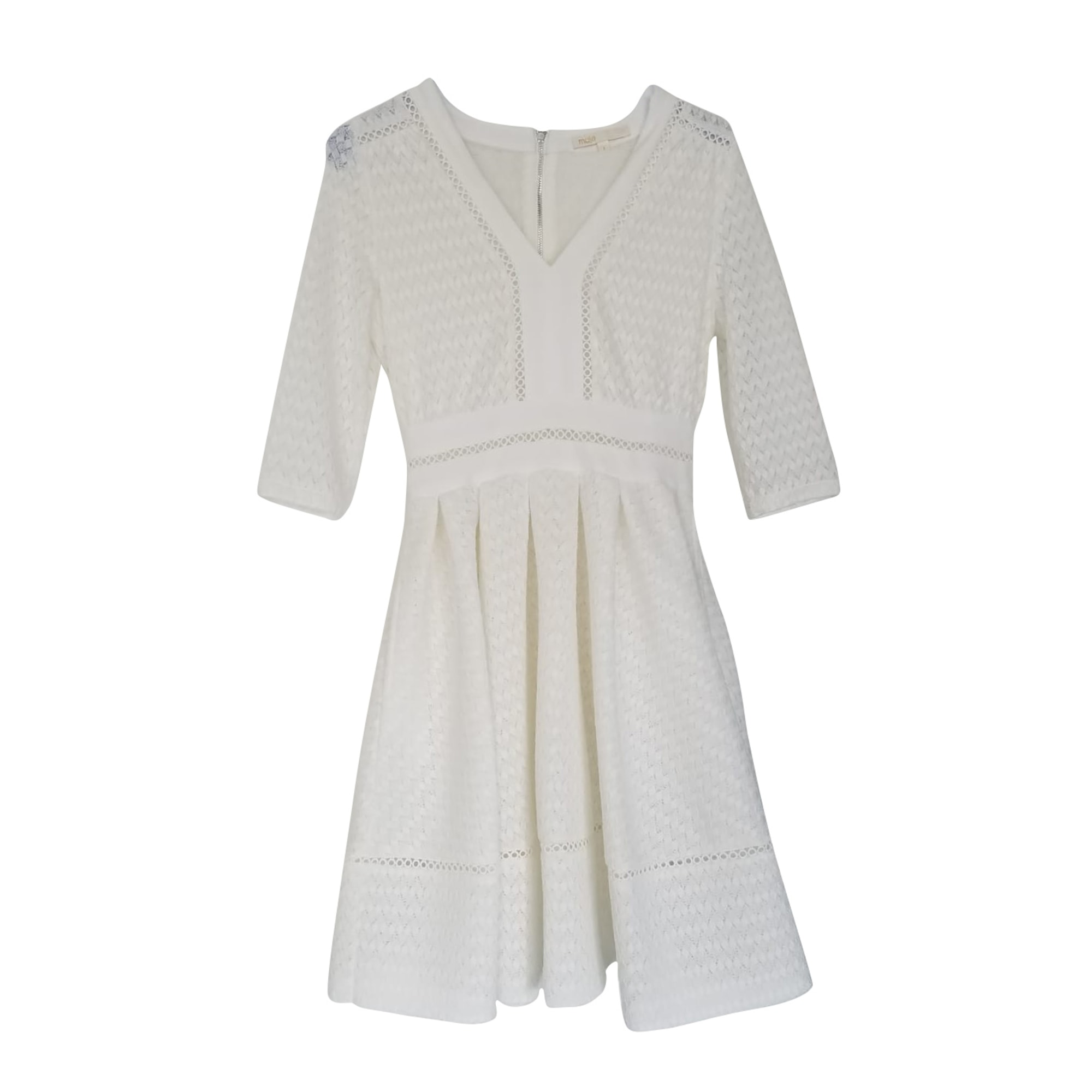 Mini Dress MAJE White, off-white, ecru