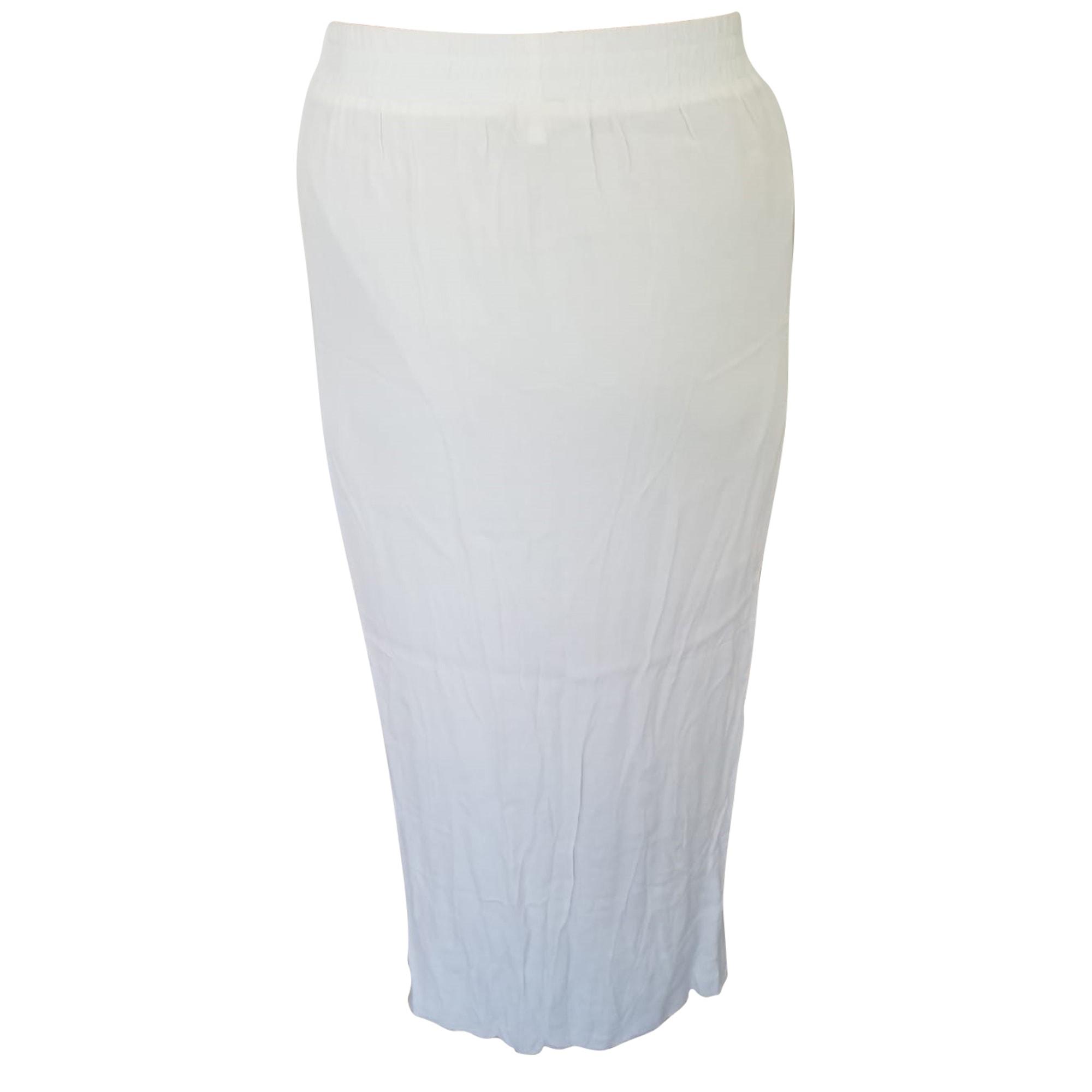 Jupe longue MAJE Blanc, blanc cassé, écru