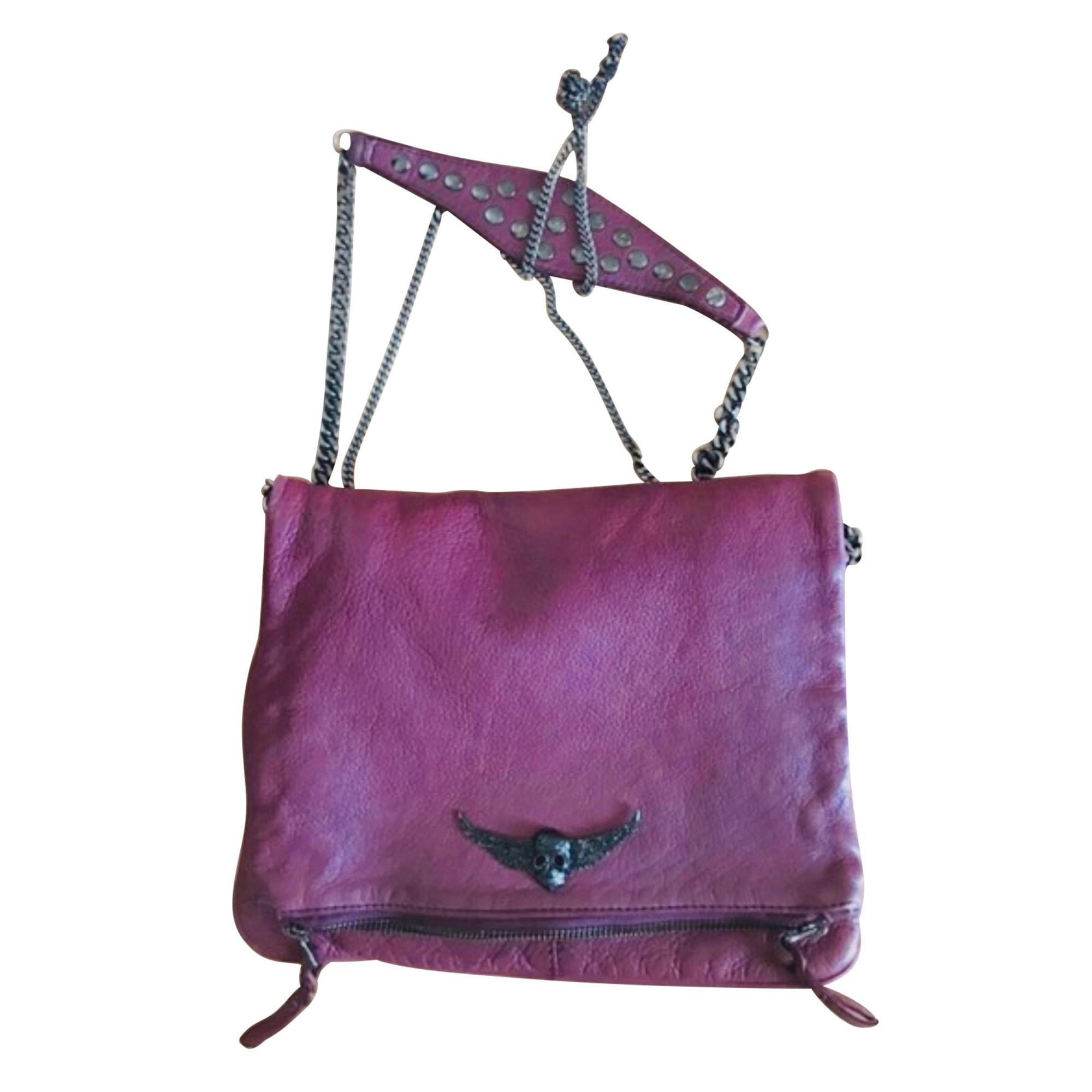 Leather Clutch ZADIG & VOLTAIRE Purple, mauve, lavender