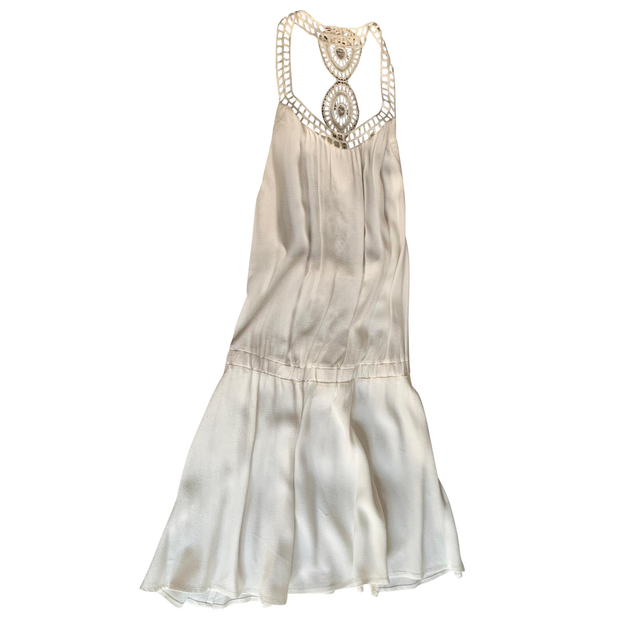 Mini Dress BA&SH White, off-white, ecru