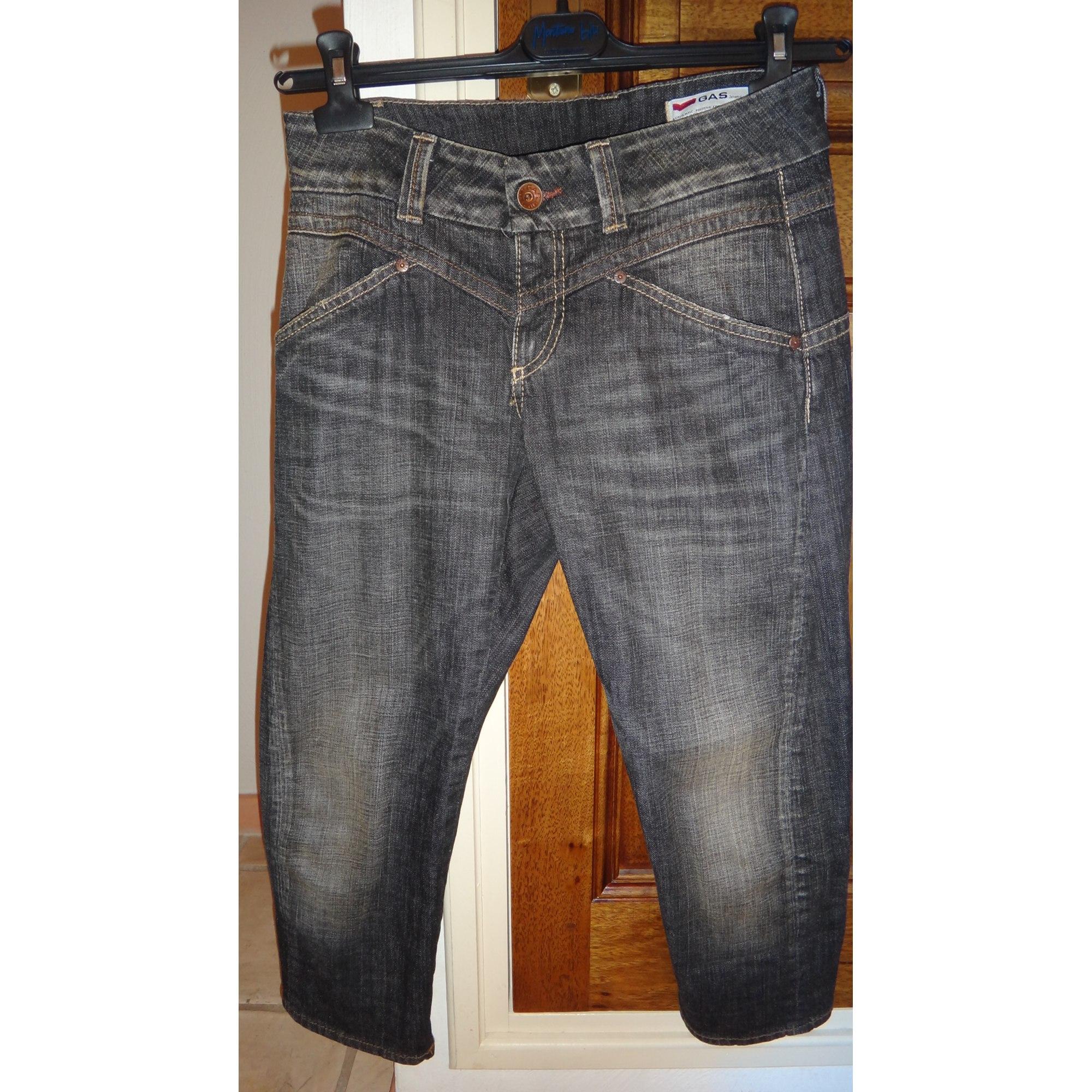 Jeans slim GAS BIJOUX Bleu, bleu marine, bleu turquoise