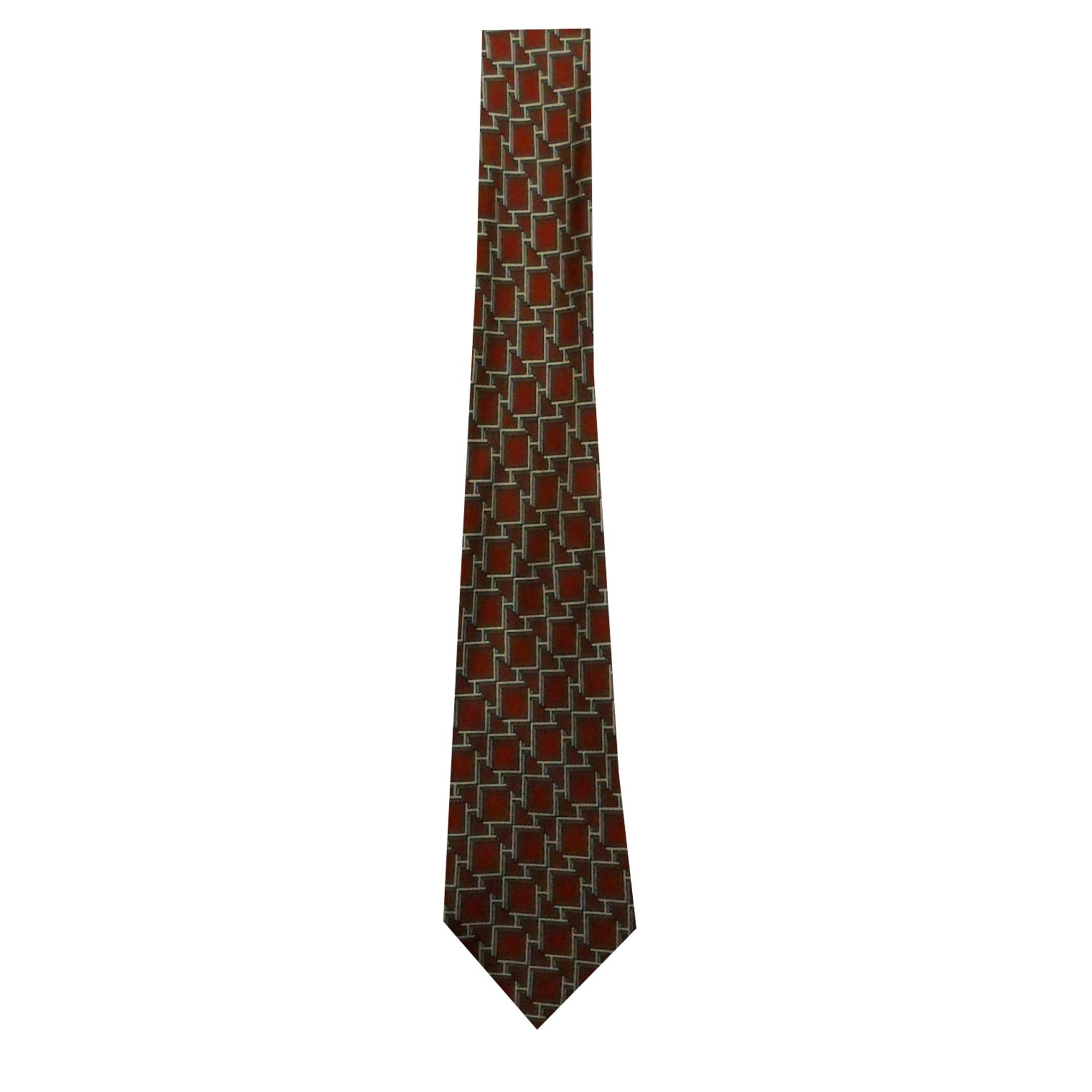 Cravate HERMÈS fond rouge