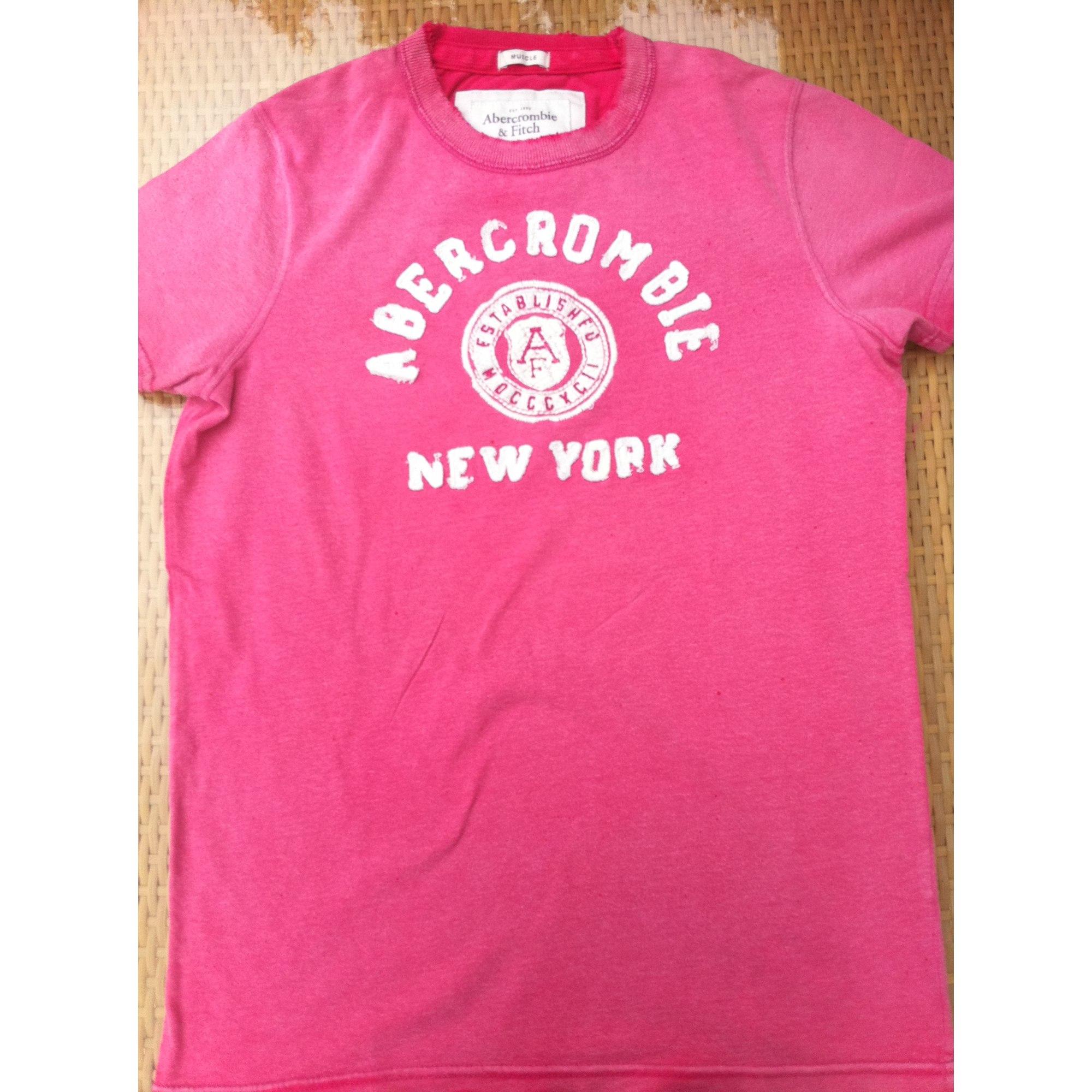 Tee-shirt ABERCROMBIE & FITCH Rose, fuschia, vieux rose