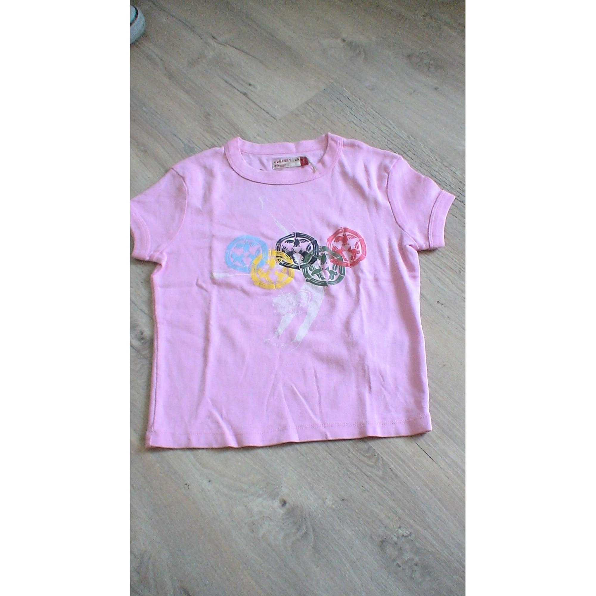 Top, Tee-shirt GUESS Rose, fuschia, vieux rose