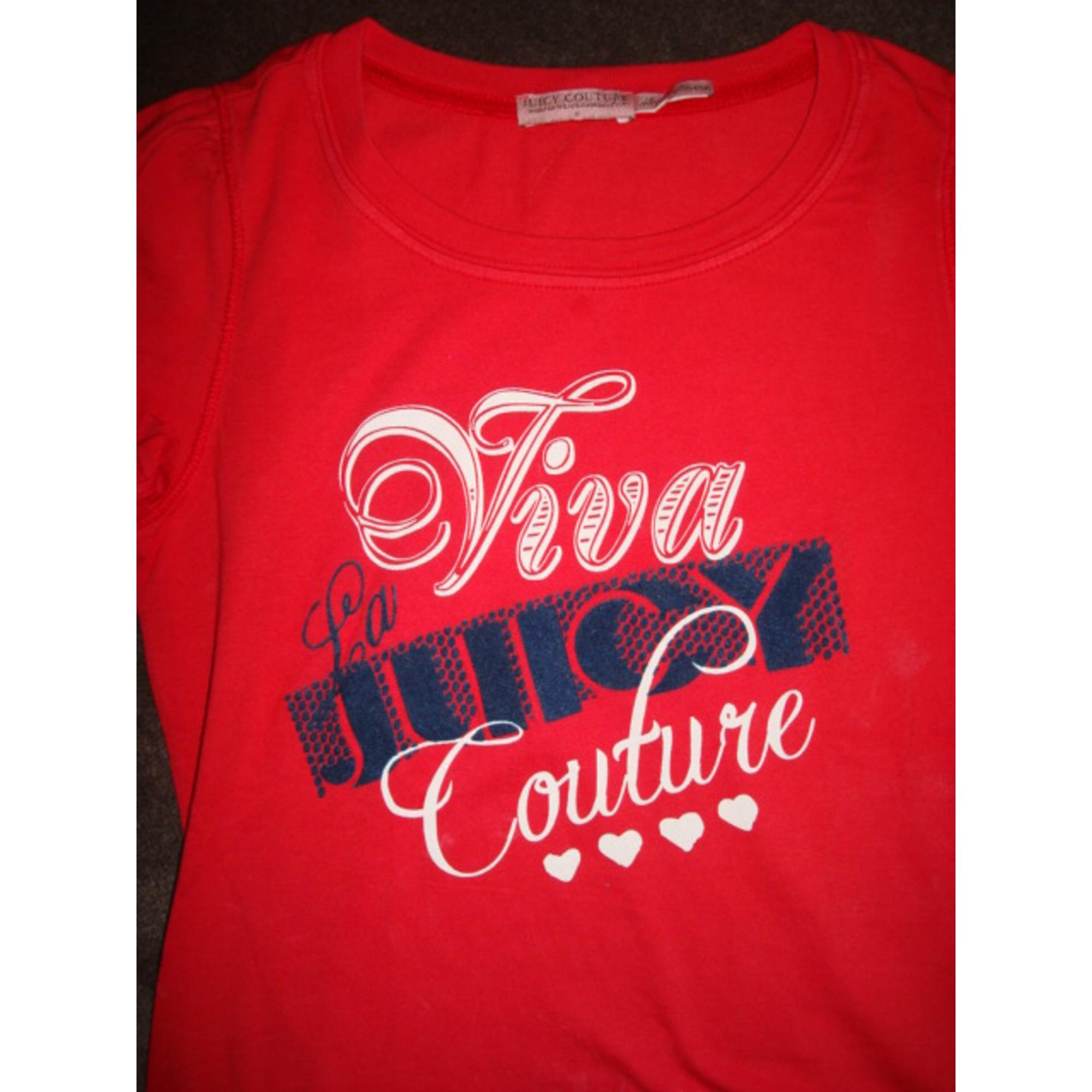 Top, Tee-shirt JUICY COUTURE Rouge, bordeaux