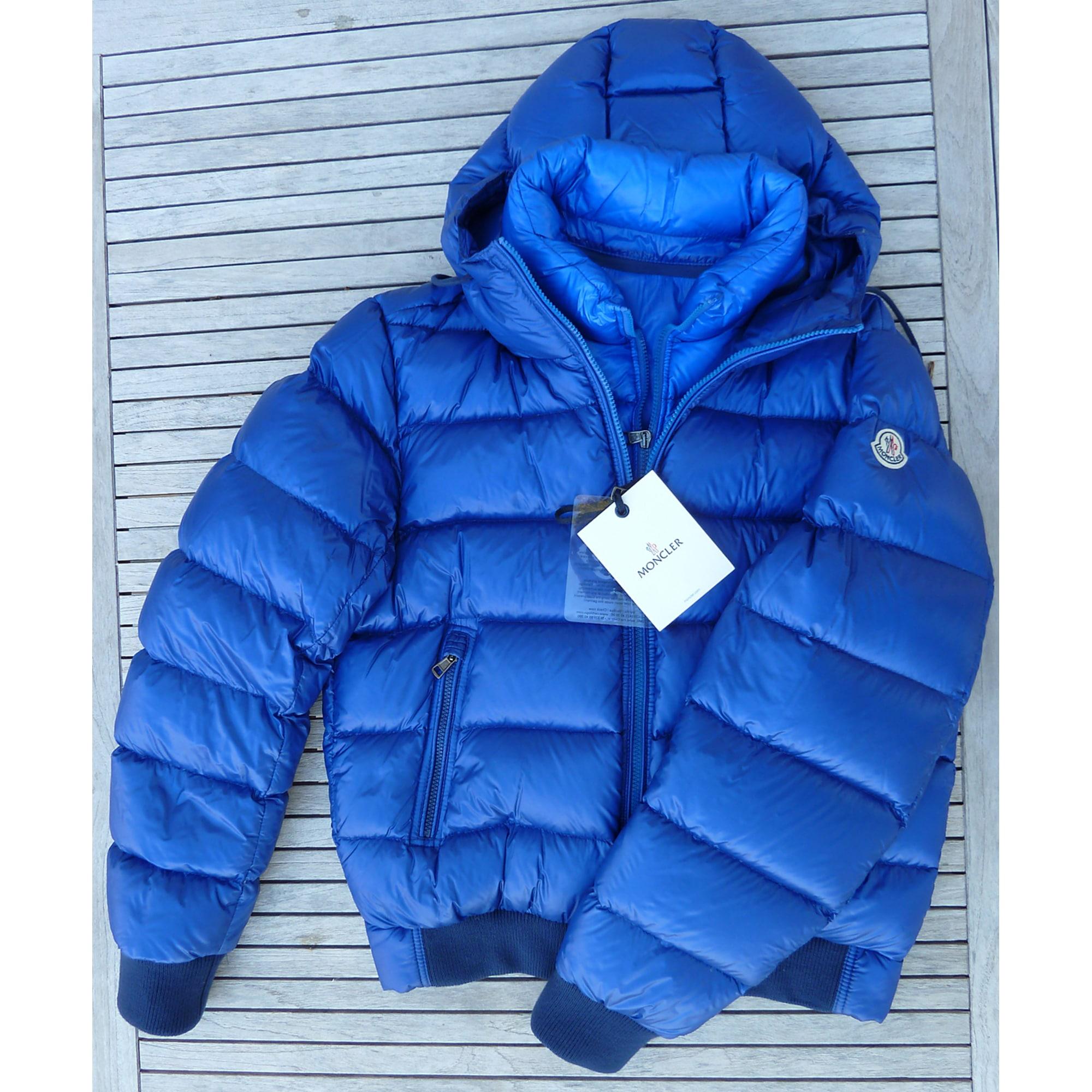 Doudoune MONCLER 54 (L) bleu vendu par Jocelyn2
