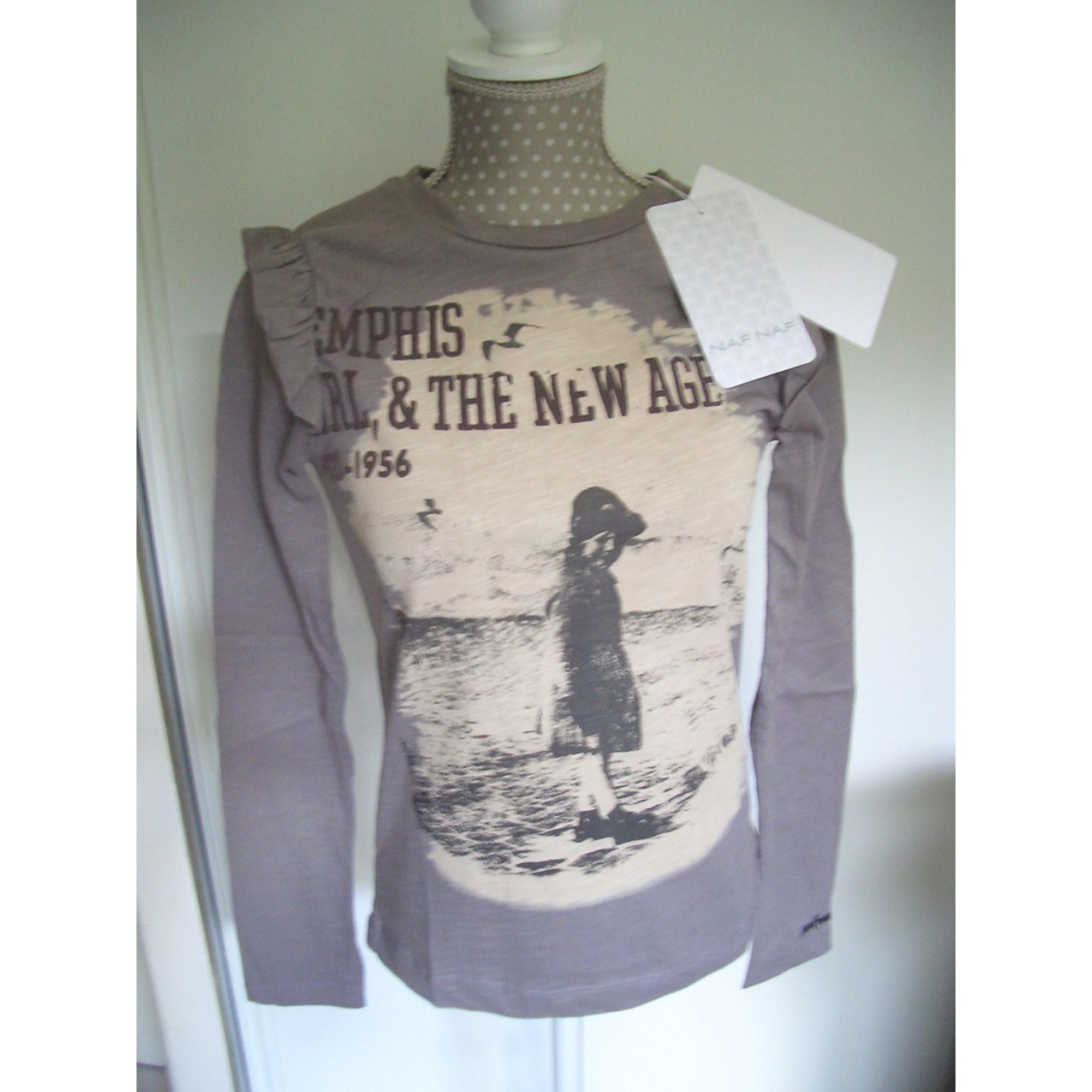 Top, Tee-shirt NAF NAF Gris, anthracite