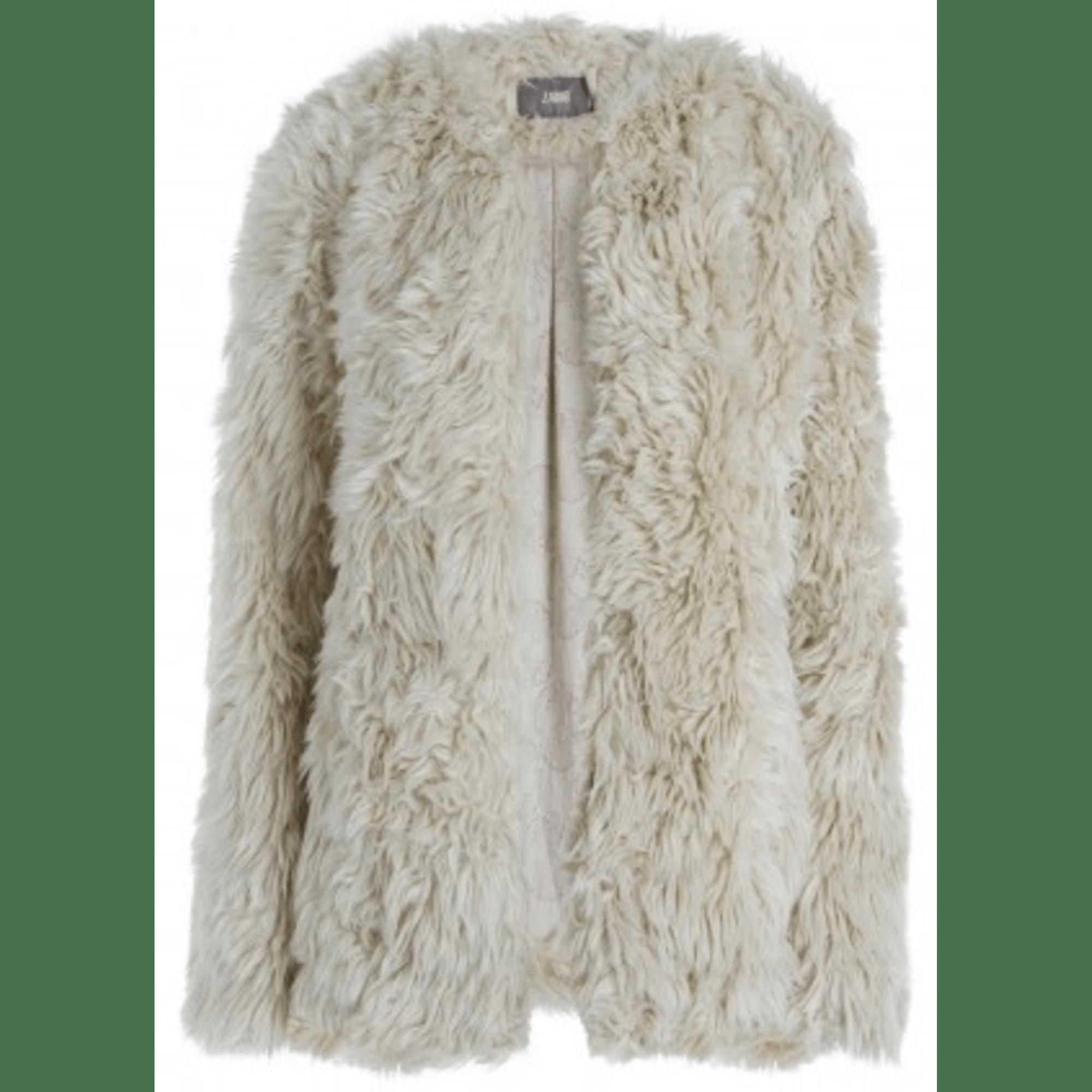 Manteau en fourrure ZADIG & VOLTAIRE 36 (S, T1) blanc vendu