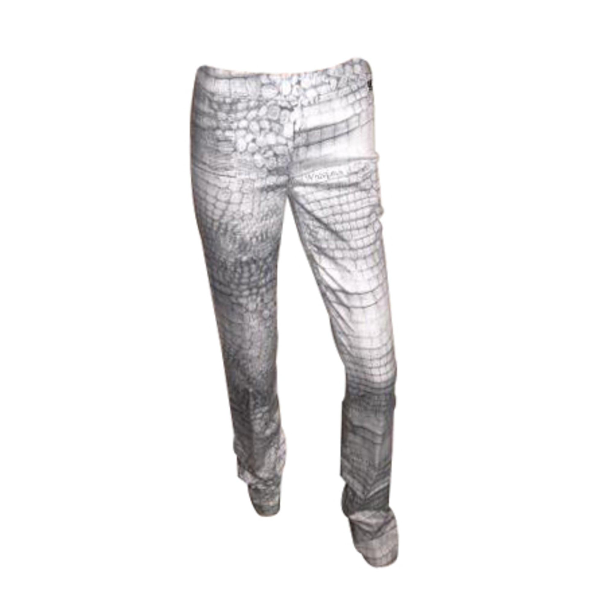 Jeans slim JOHN GALLIANO Gris, anthracite
