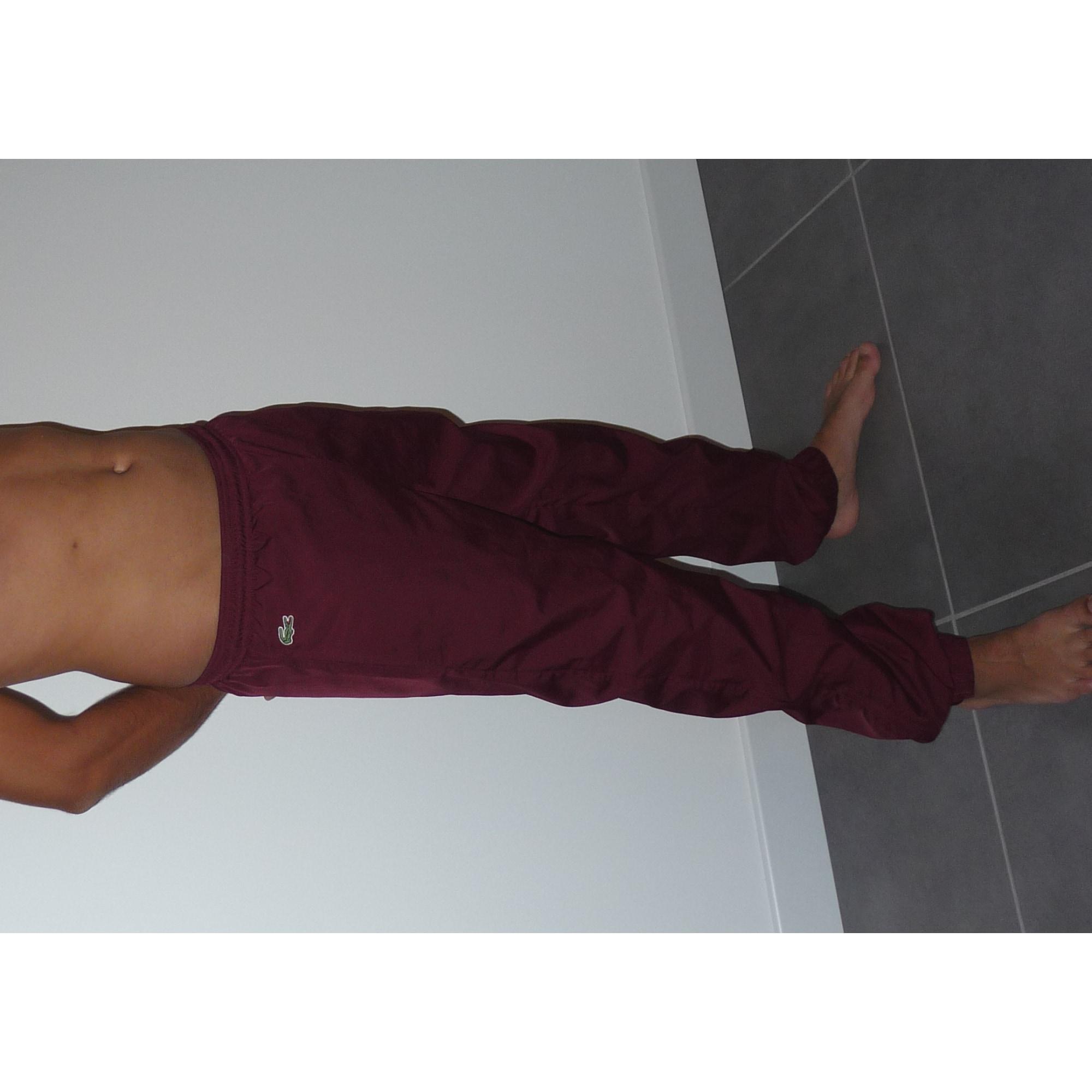 Pantalon de survêtement LACOSTE 36 rouge