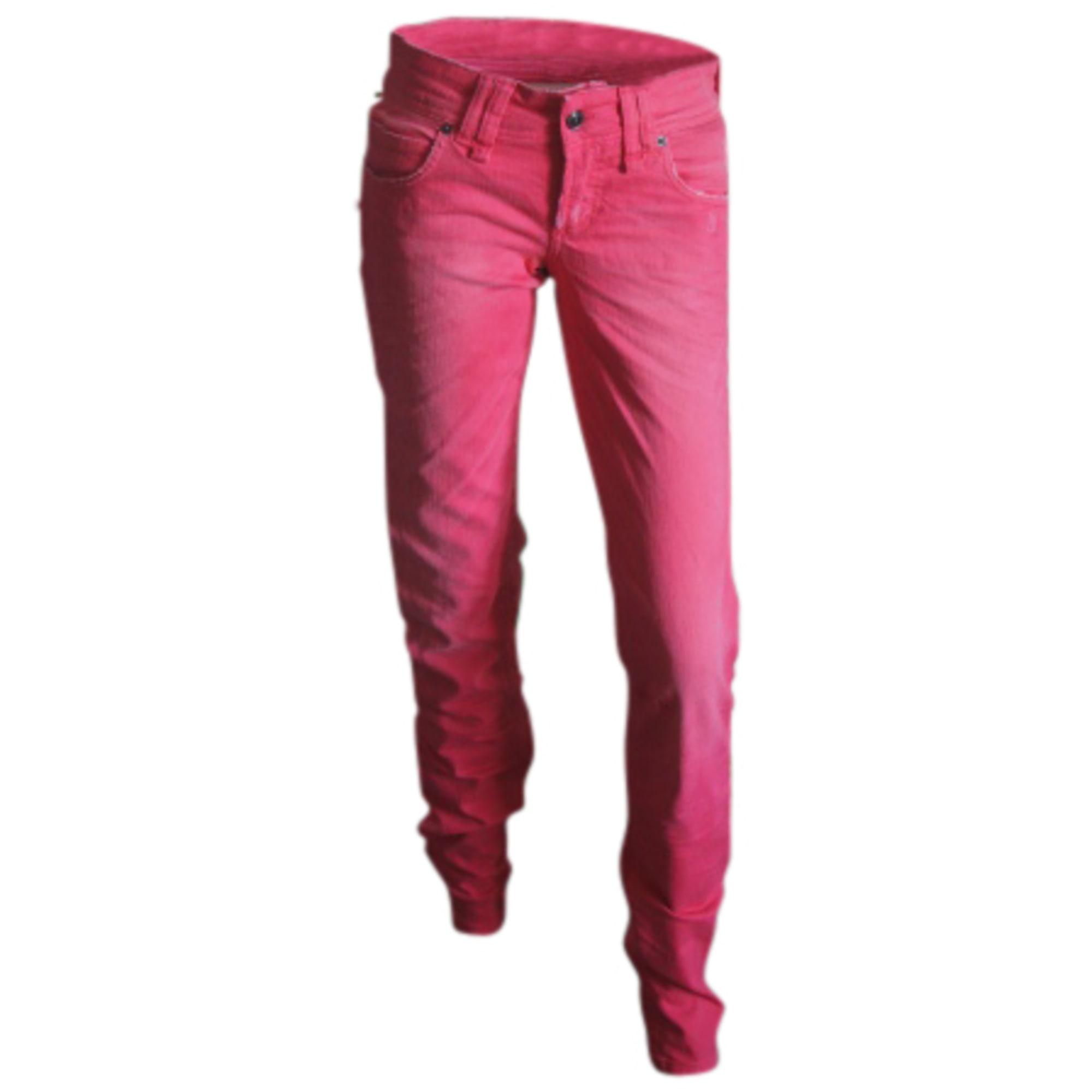 Jeans slim JOHN GALLIANO Rouge, bordeaux