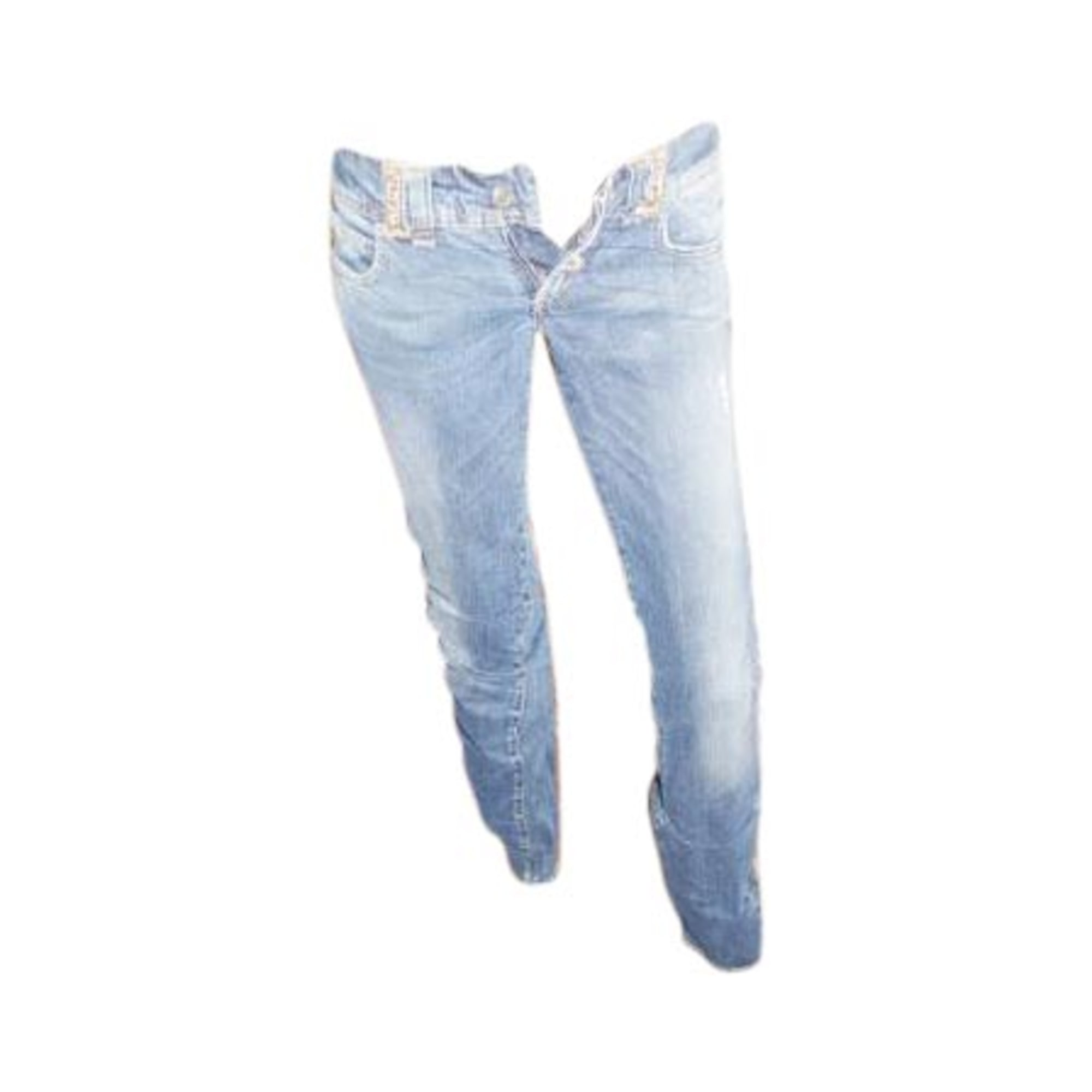 Jeans slim JOHN GALLIANO Bleu, bleu marine, bleu turquoise