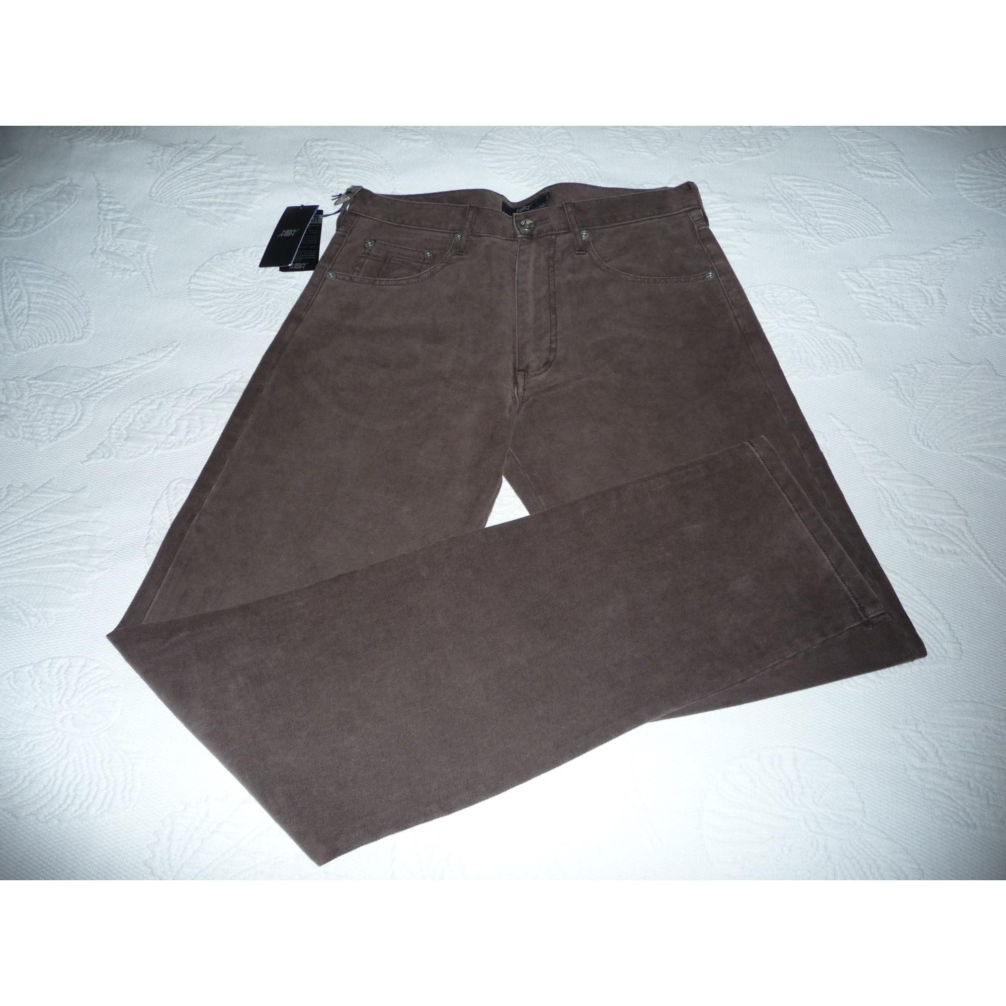 Pantalon droit NEW MAN Marron