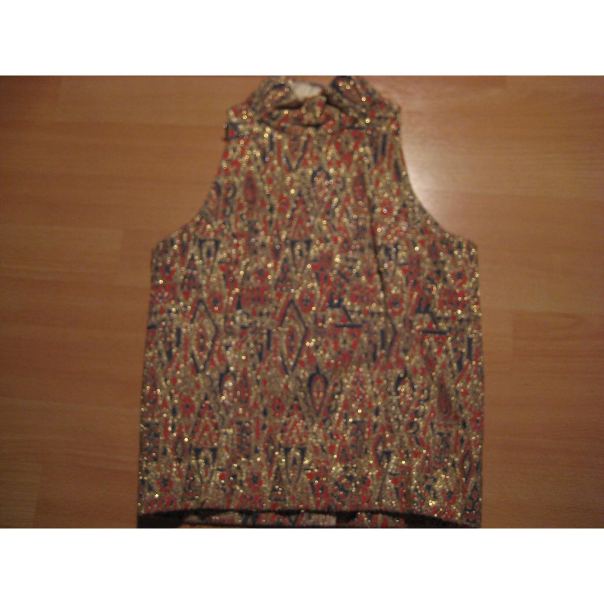 Top, Tee-shirt 100% VINTAGE Doré, bronze, cuivre