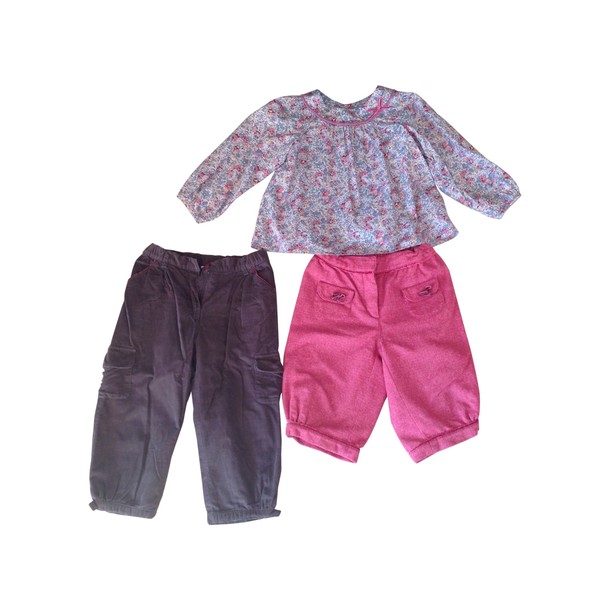 Ensemble & Combinaison pantalon JACADI Fuschia, marron