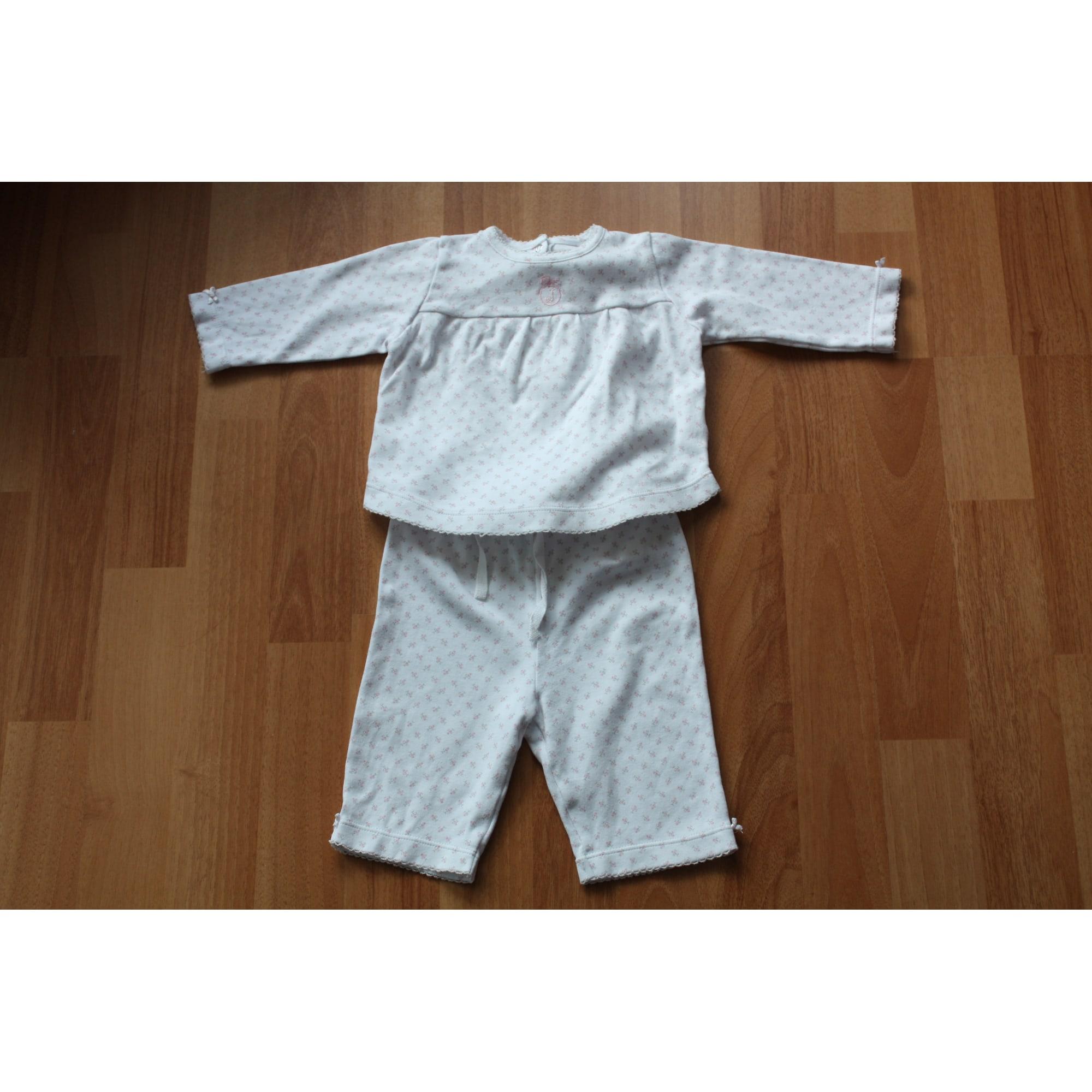 Ensemble & Combinaison pantalon JACADI Blanc, blanc cassé, écru
