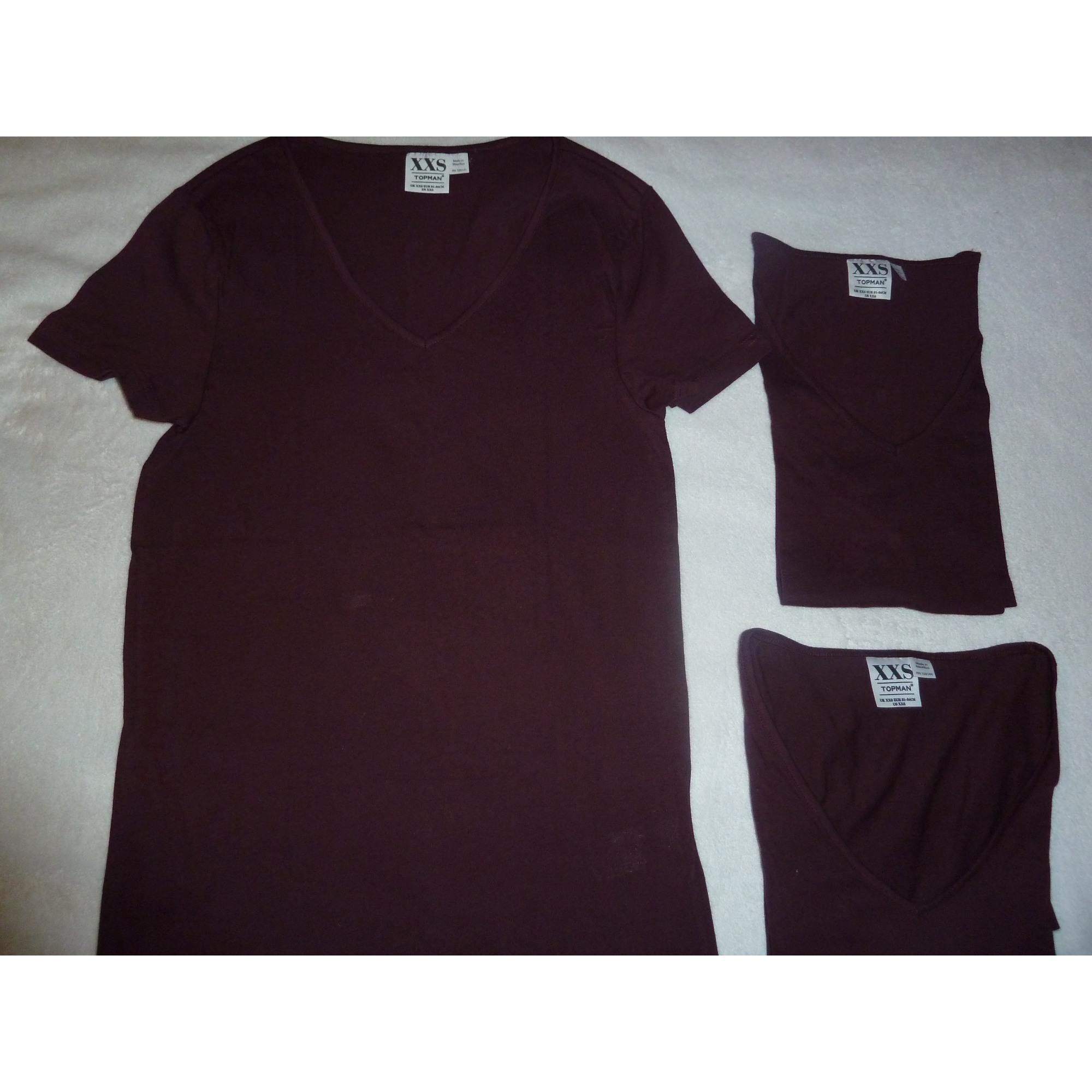 Tee-shirt TOPMAN Rouge, bordeaux