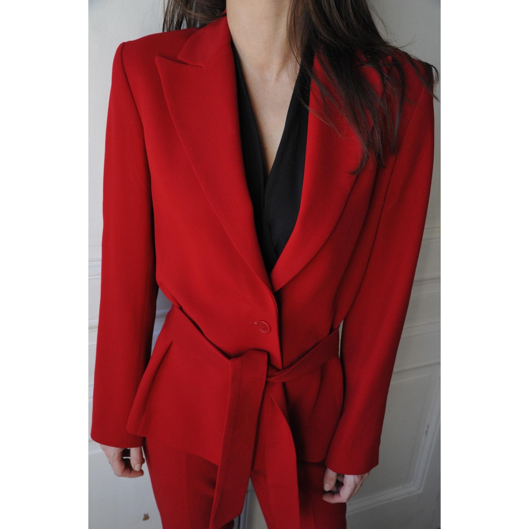 Tailleur pantalon ZARA 36 (S, T1) rouge vendu