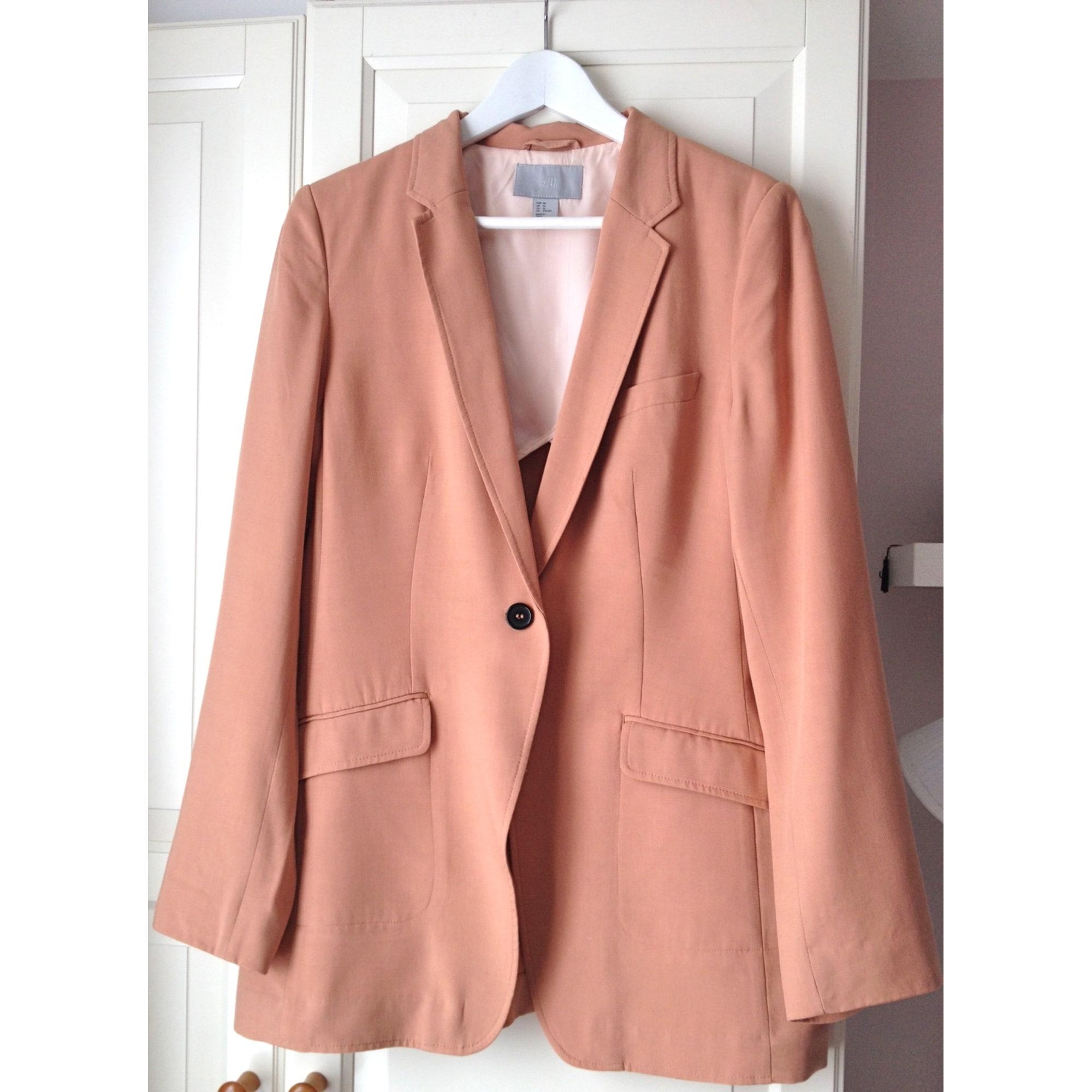 Blazer, veste tailleur H&M 46 (XXL) saumon orangé 2179968