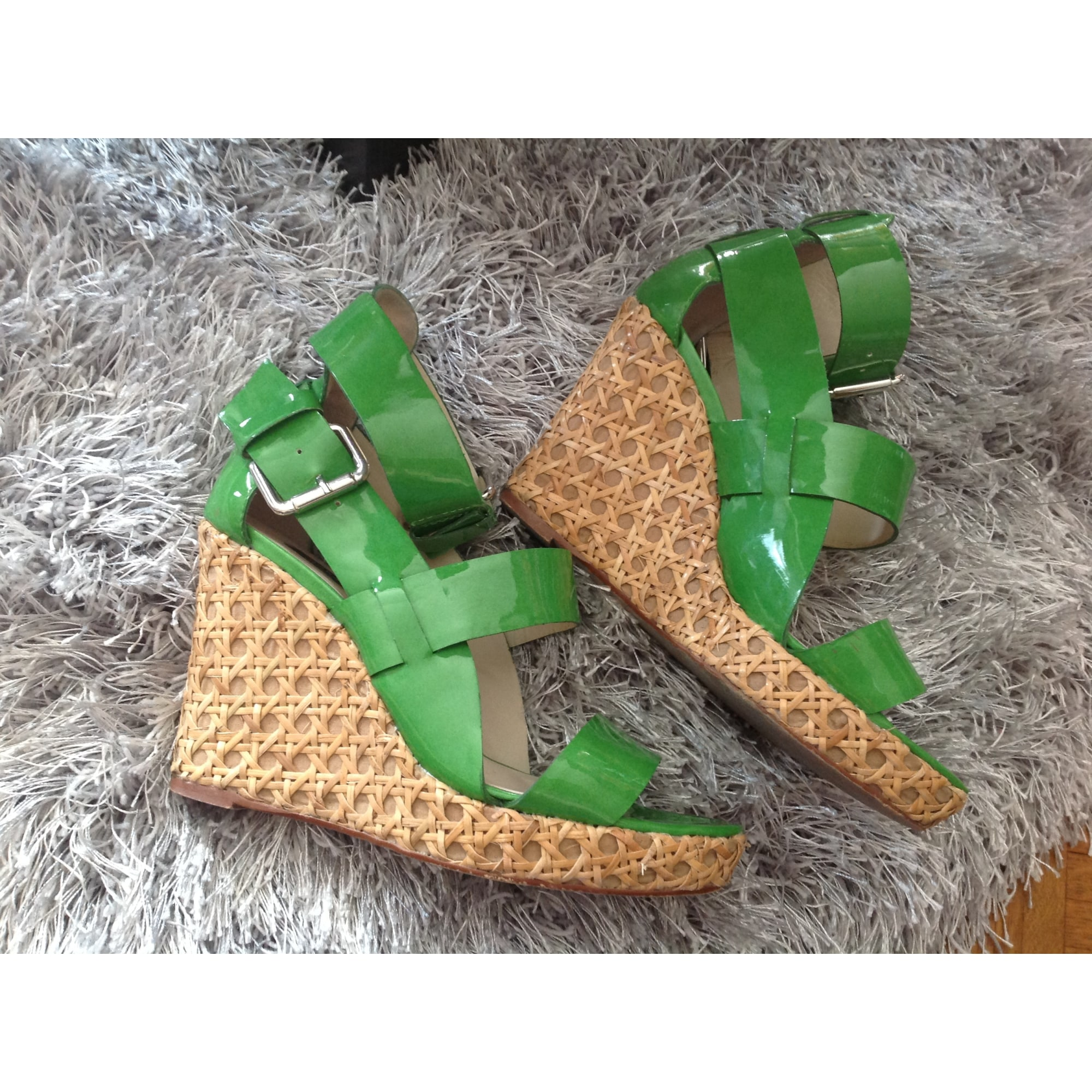 Sandales compensées ZARA Vert