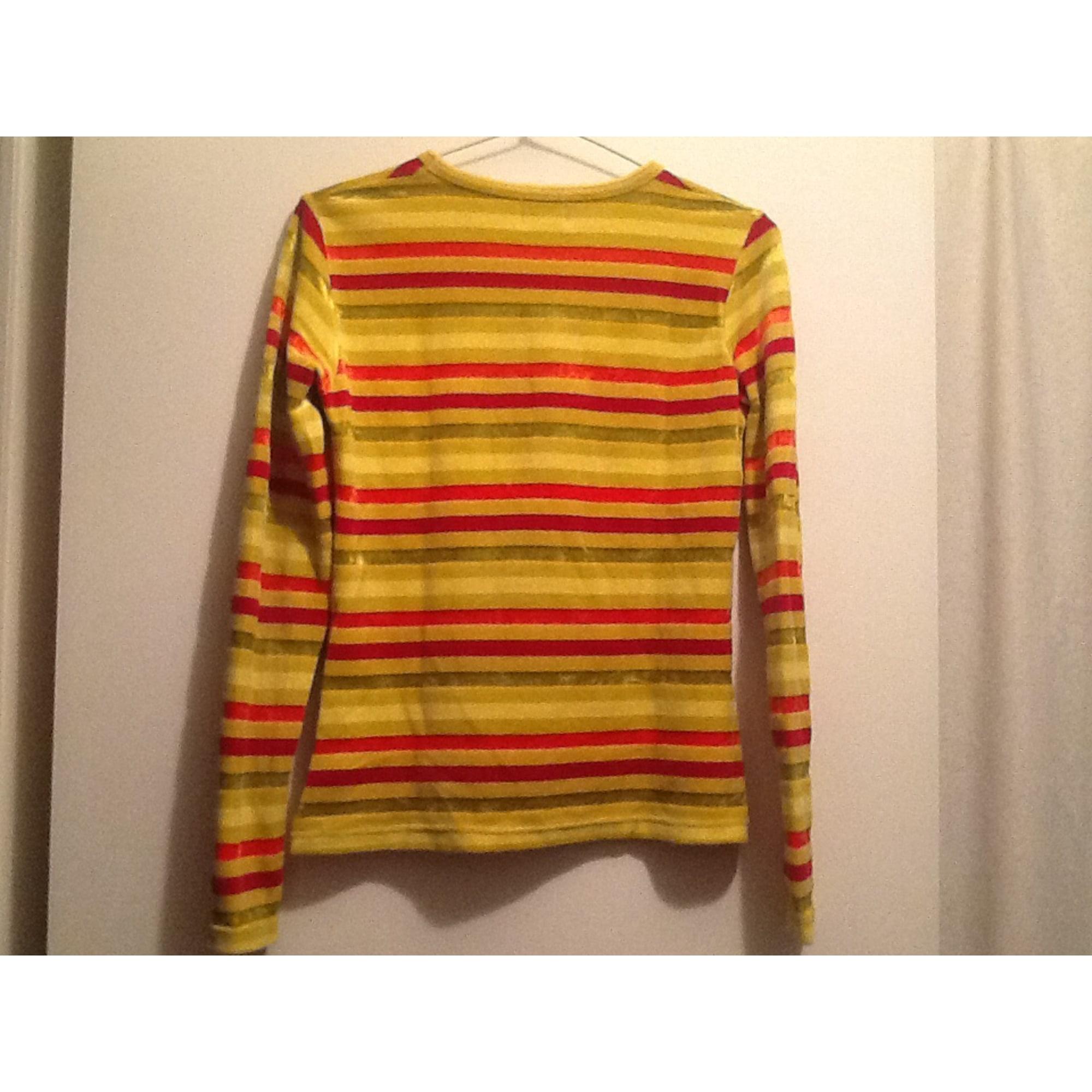 Top, Tee-shirt KENZO Jaune , orange , rouge a rayures