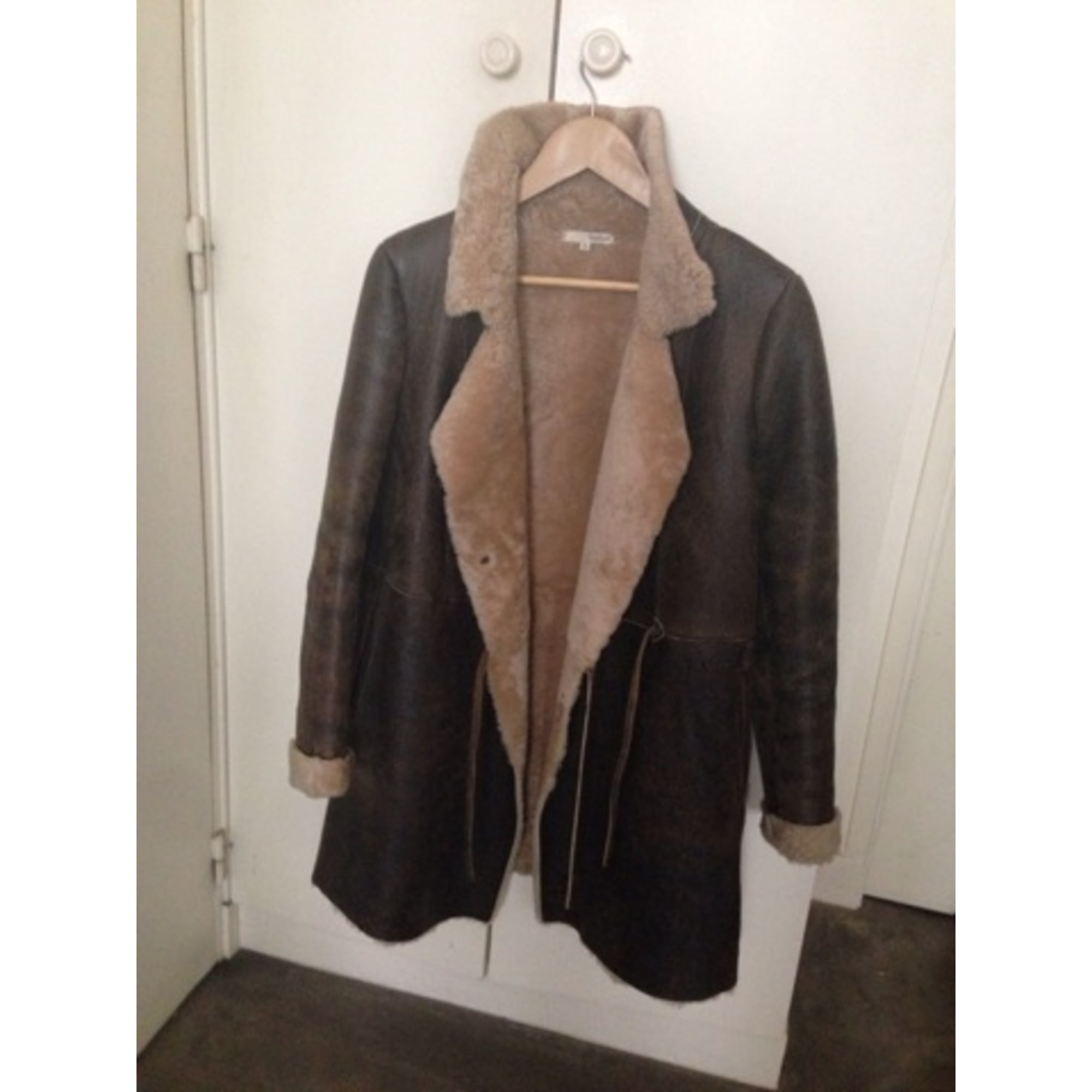 Manteau en fourrure BA&SH Marron