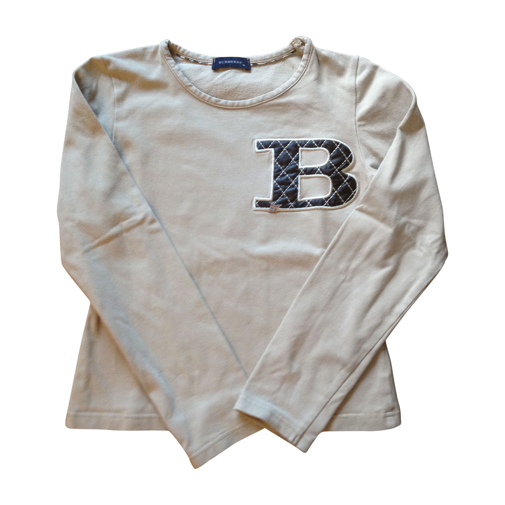 Top, Tee-shirt BURBERRY Beige, camel