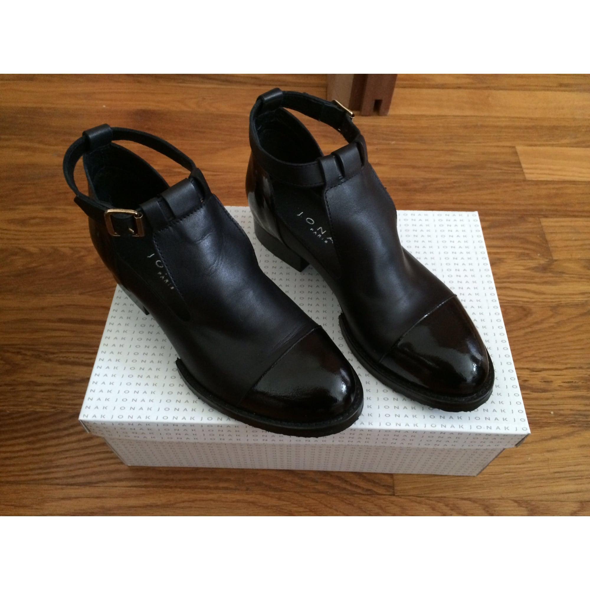 Bottines & low boots à talons JONAK 37 noir vendu par