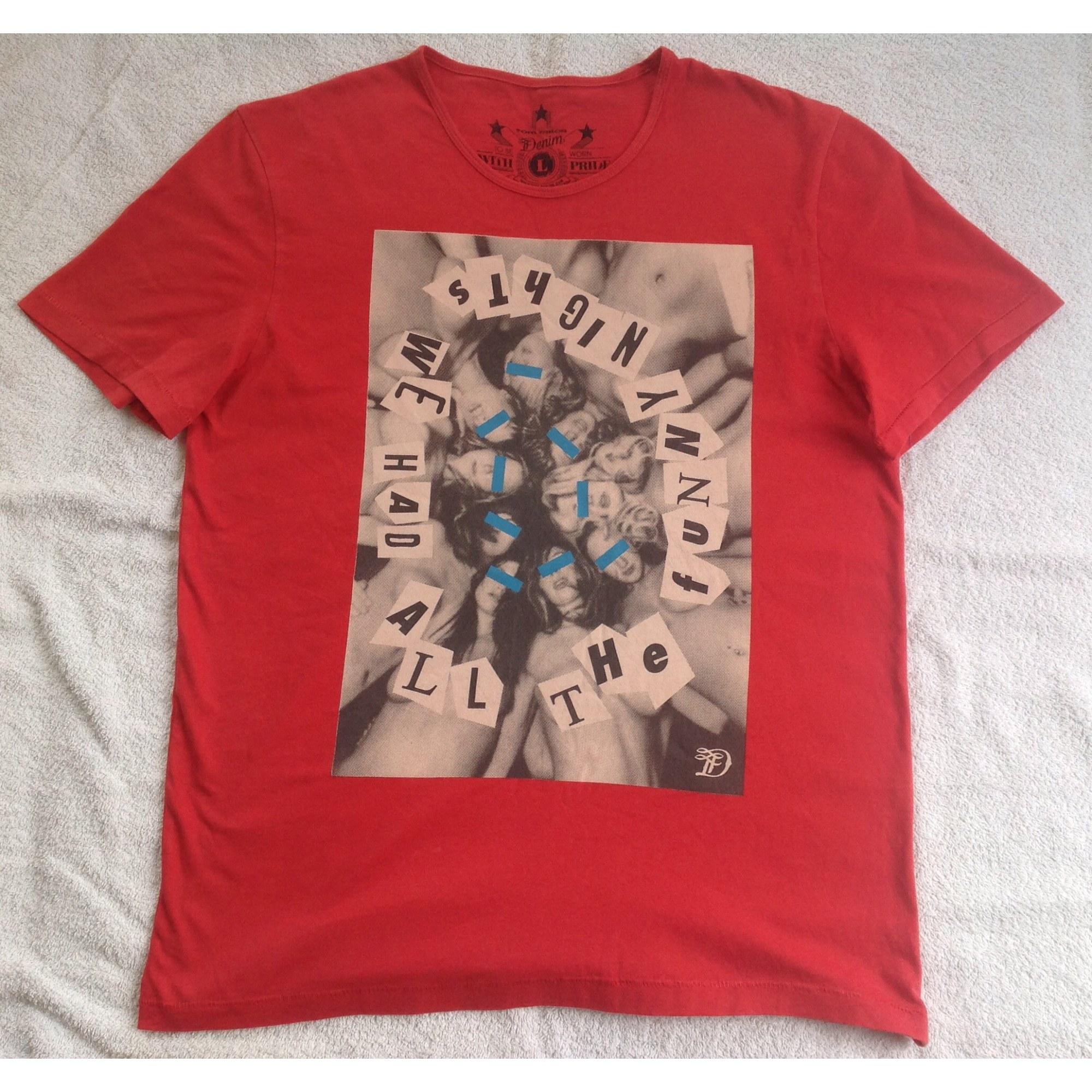 Tee-shirt TOM TAILOR Rouge, bordeaux