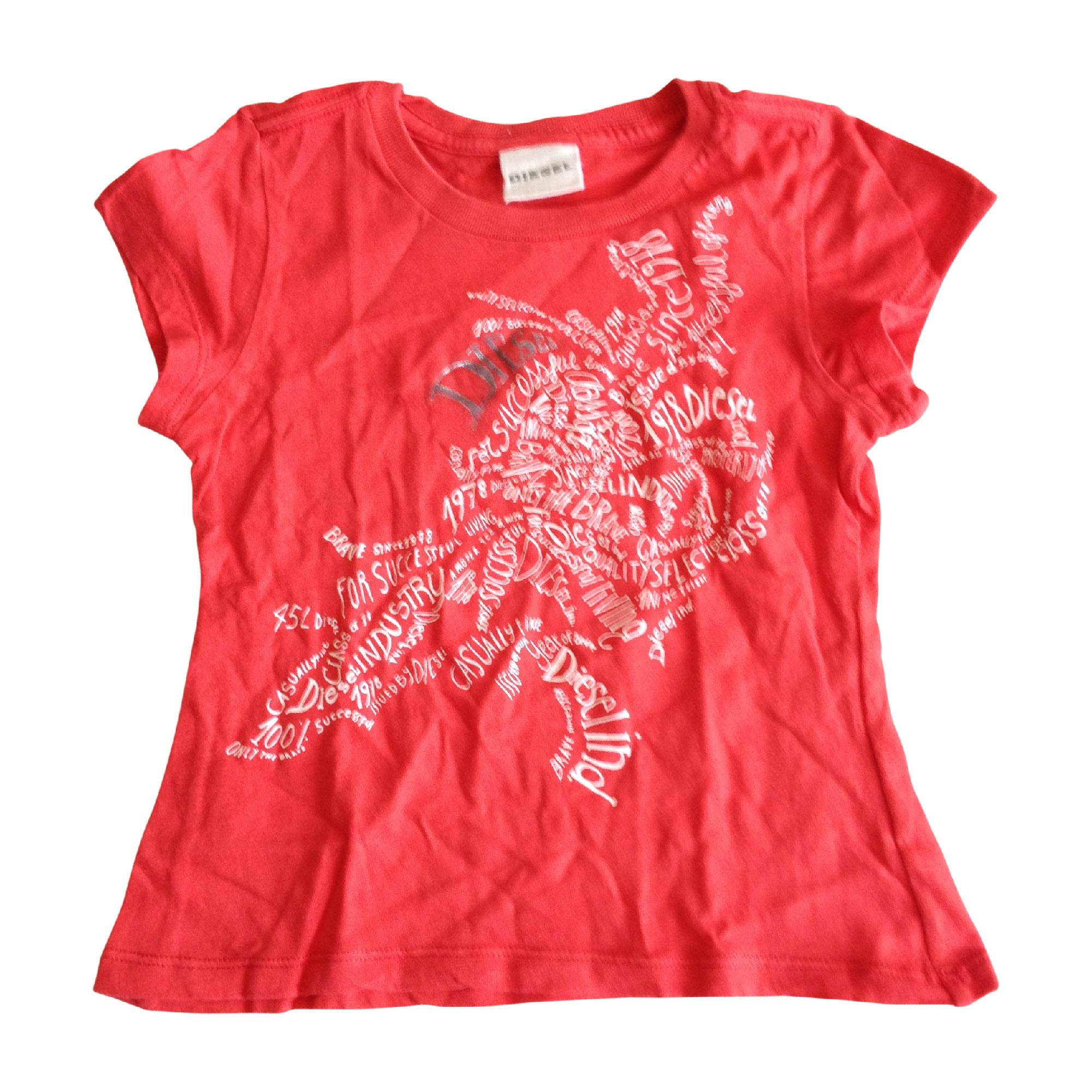 Top, Tee-shirt DIESEL Rouge, bordeaux