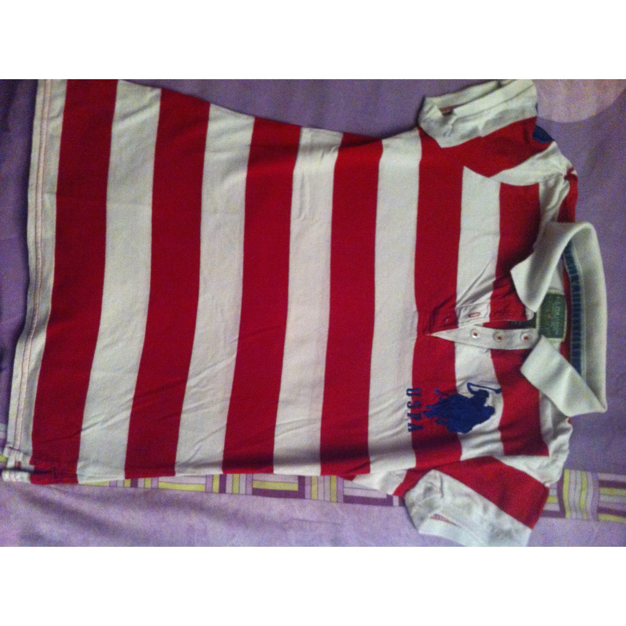 Top, Tee-shirt US POLO ASSN Rouge, bordeaux