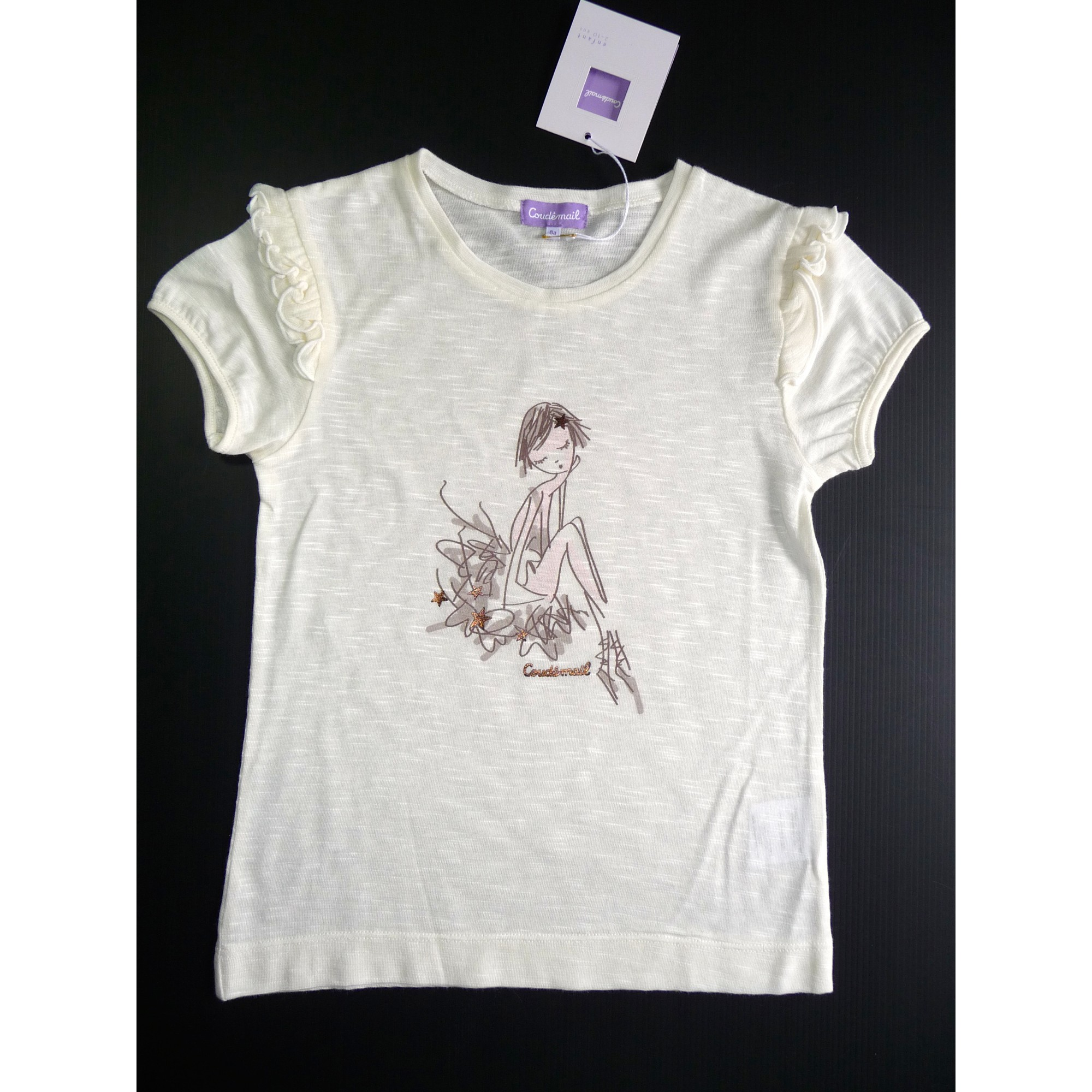 Top, Tee-shirt COUDÉMAIL Beige, camel