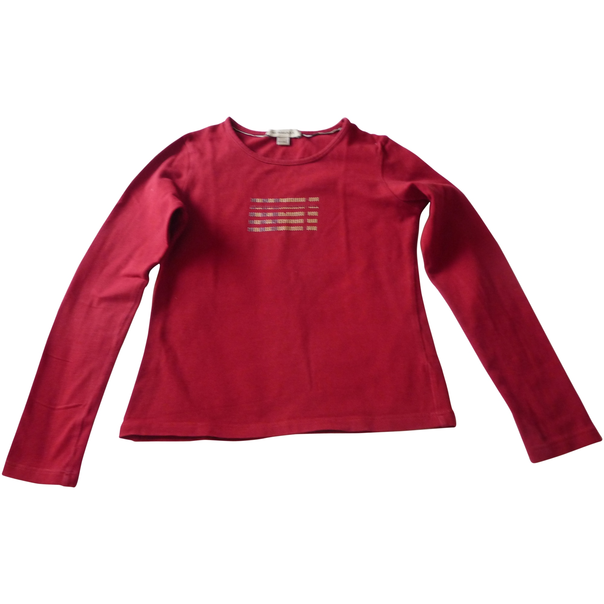 Top, Tee-shirt BURBERRY Rouge, bordeaux