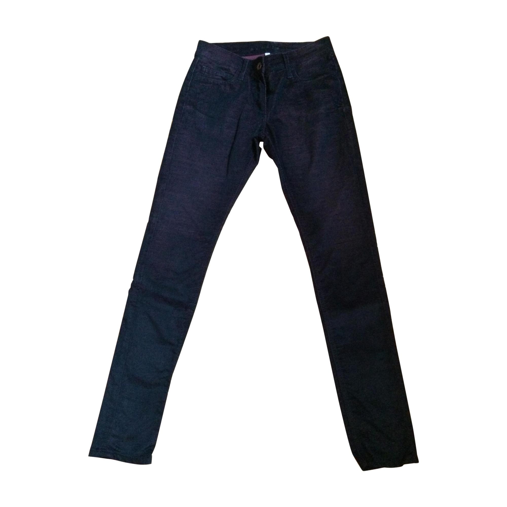Pantalon slim, cigarette SANDRO Aubergine