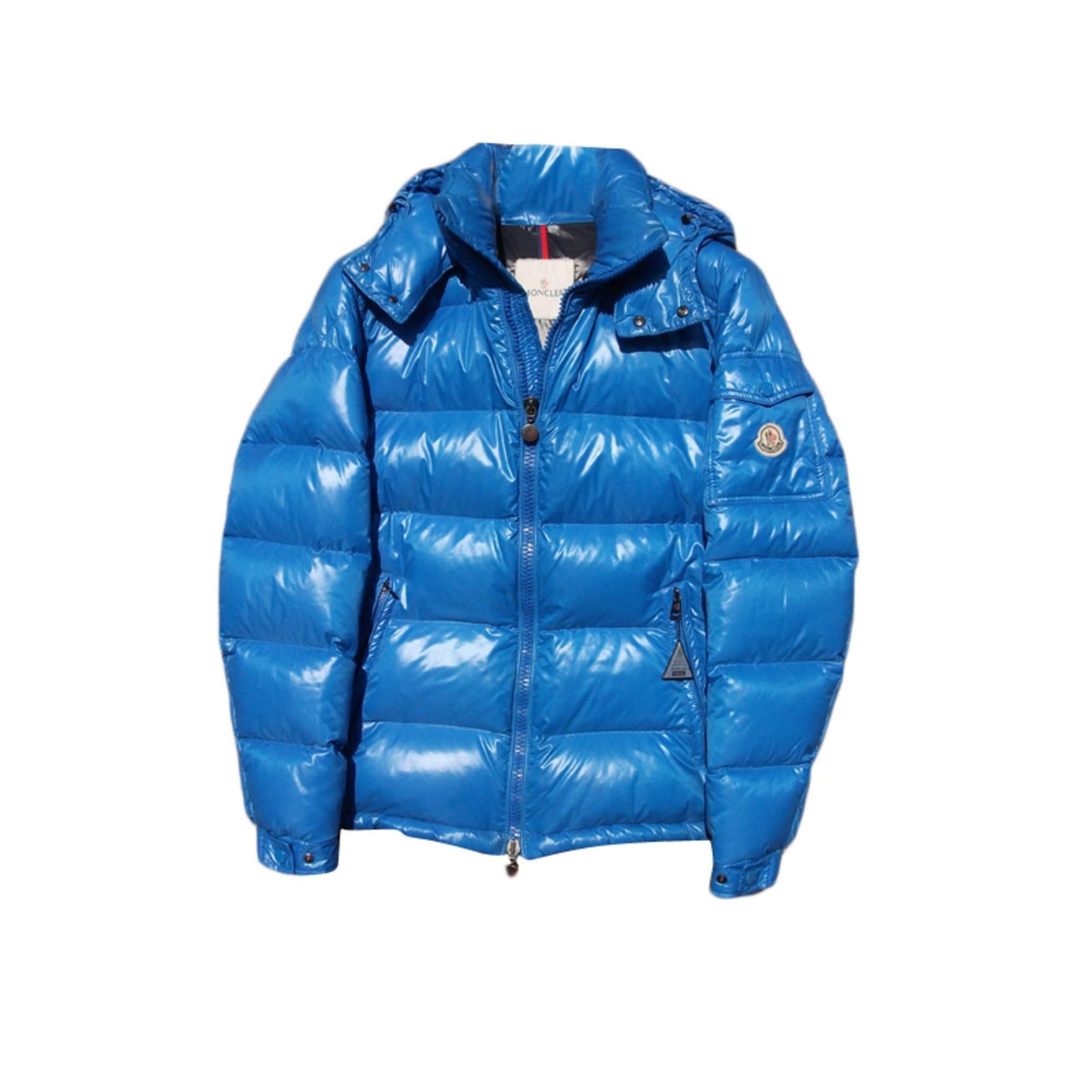 Doudoune MONCLER 52 (L) bleu vendu par Laurent