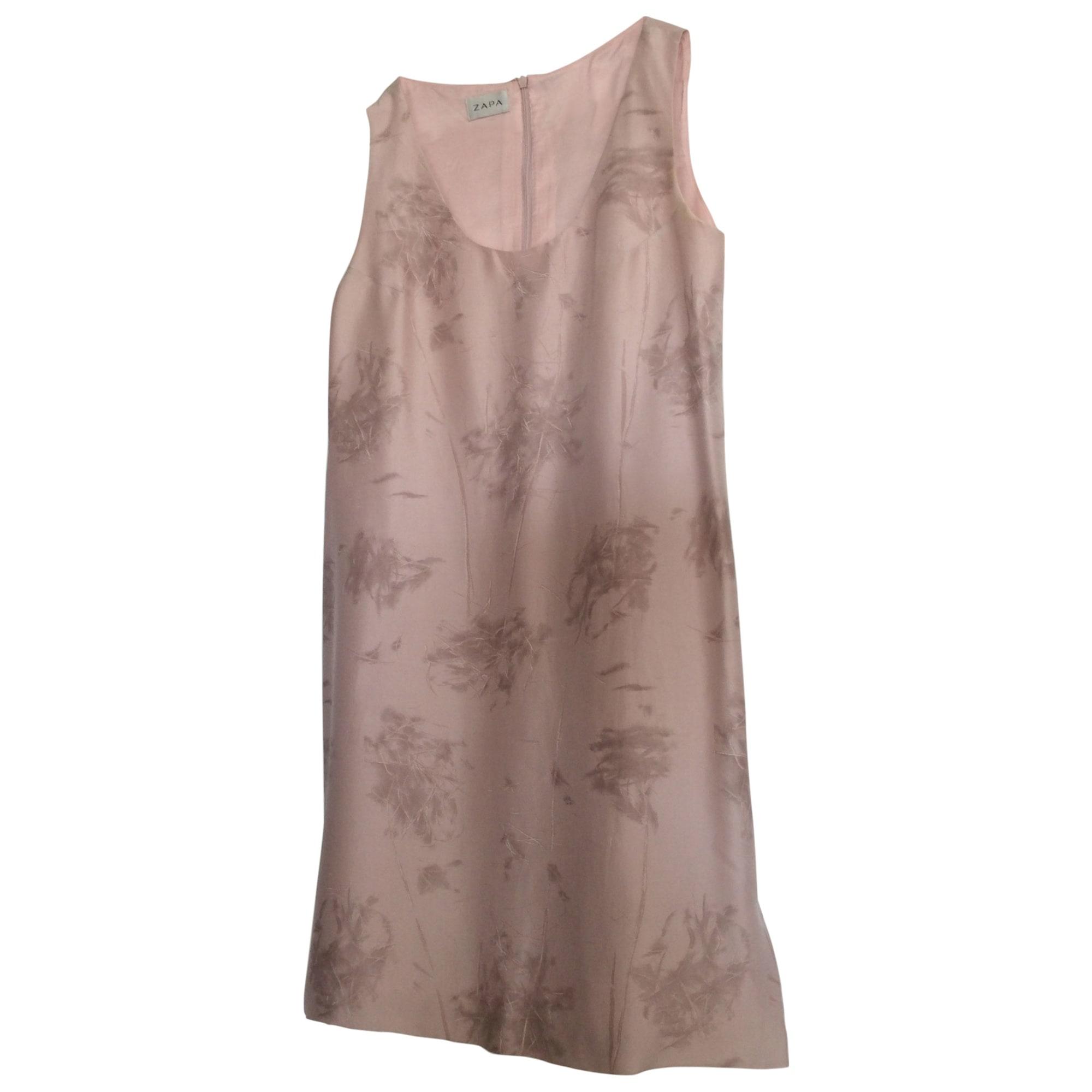 Robe courte ZAPA Rose, fuschia, vieux rose