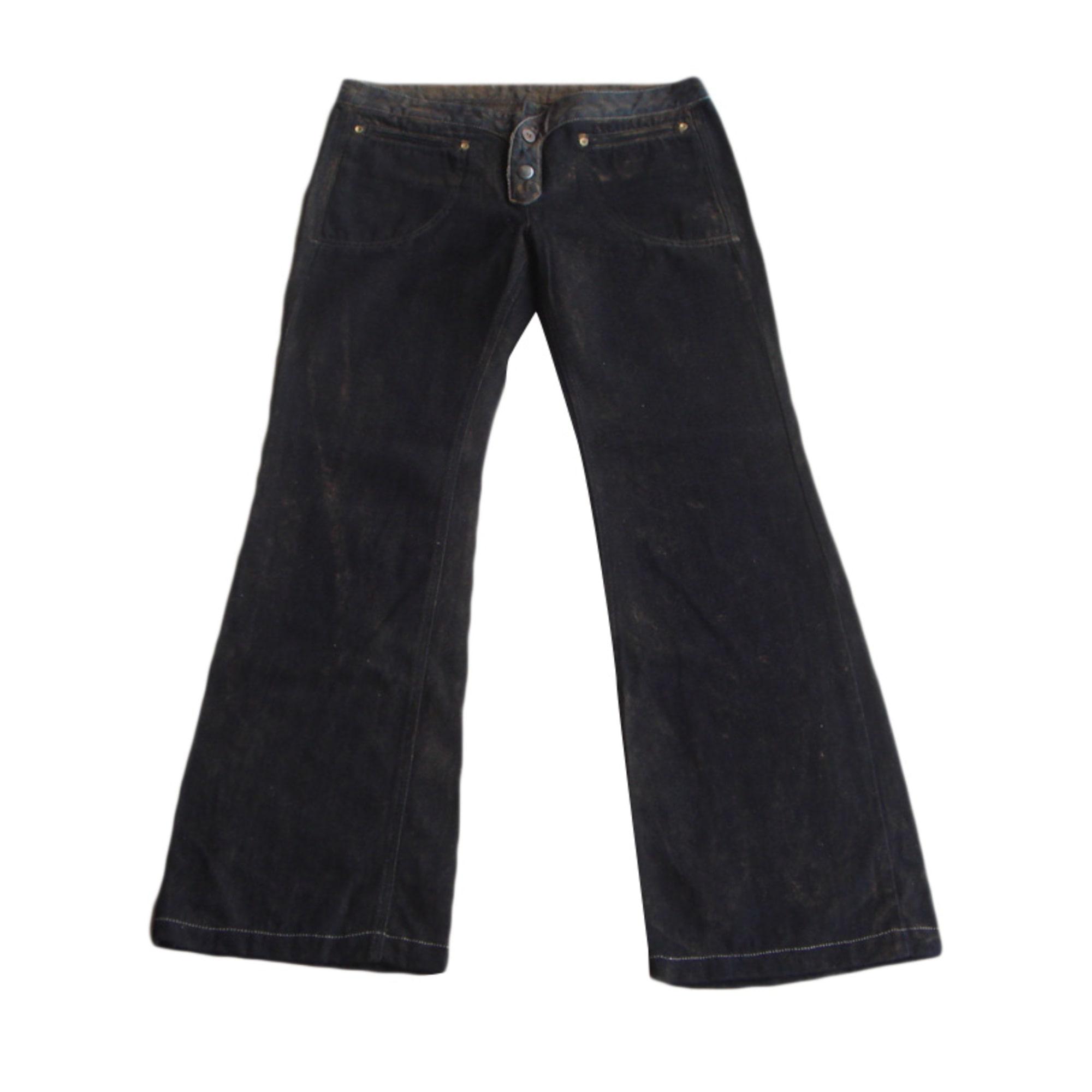 Pantalon évasé DIESEL Noir
