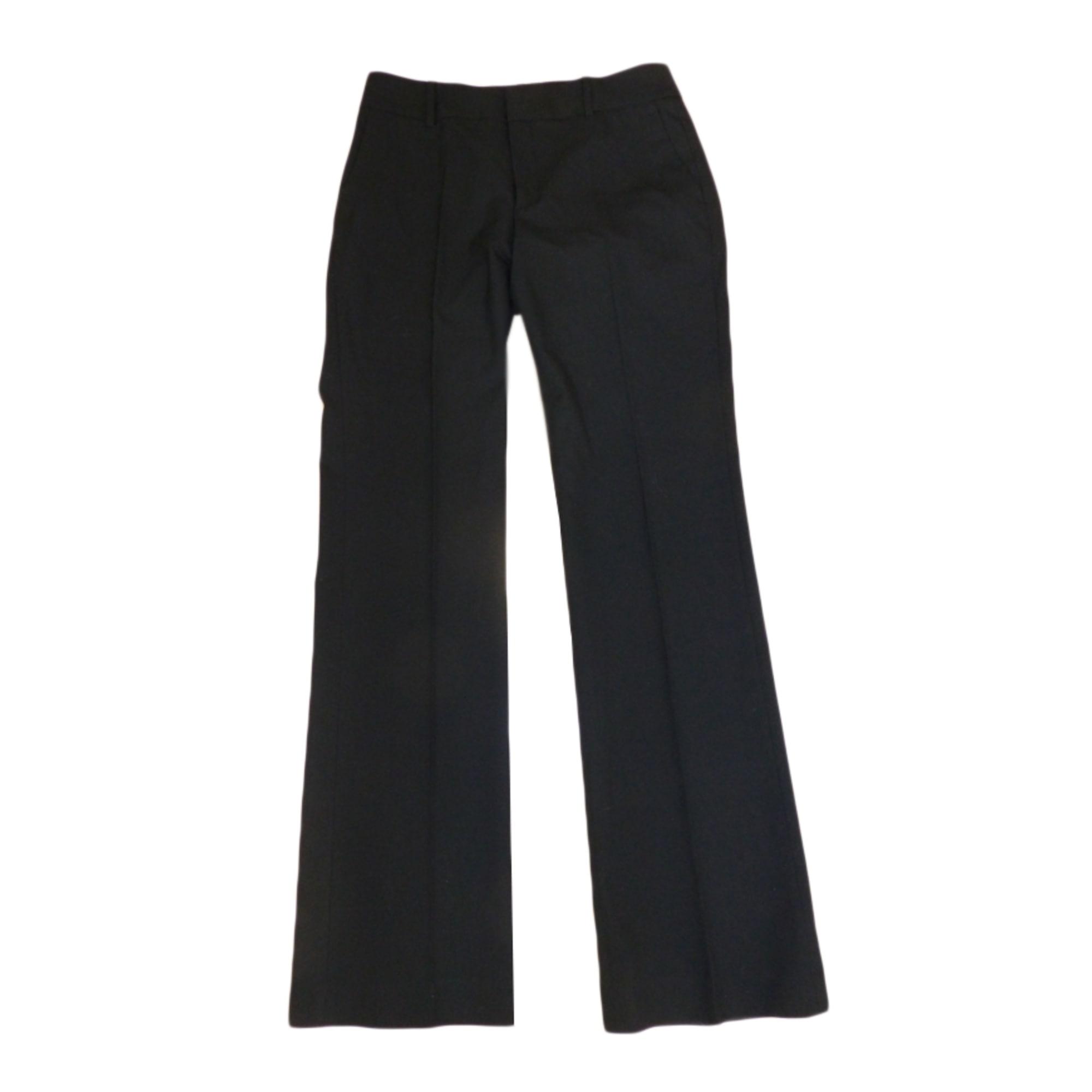 Pantalon droit ZARA 38 (M, T2) noir - 356