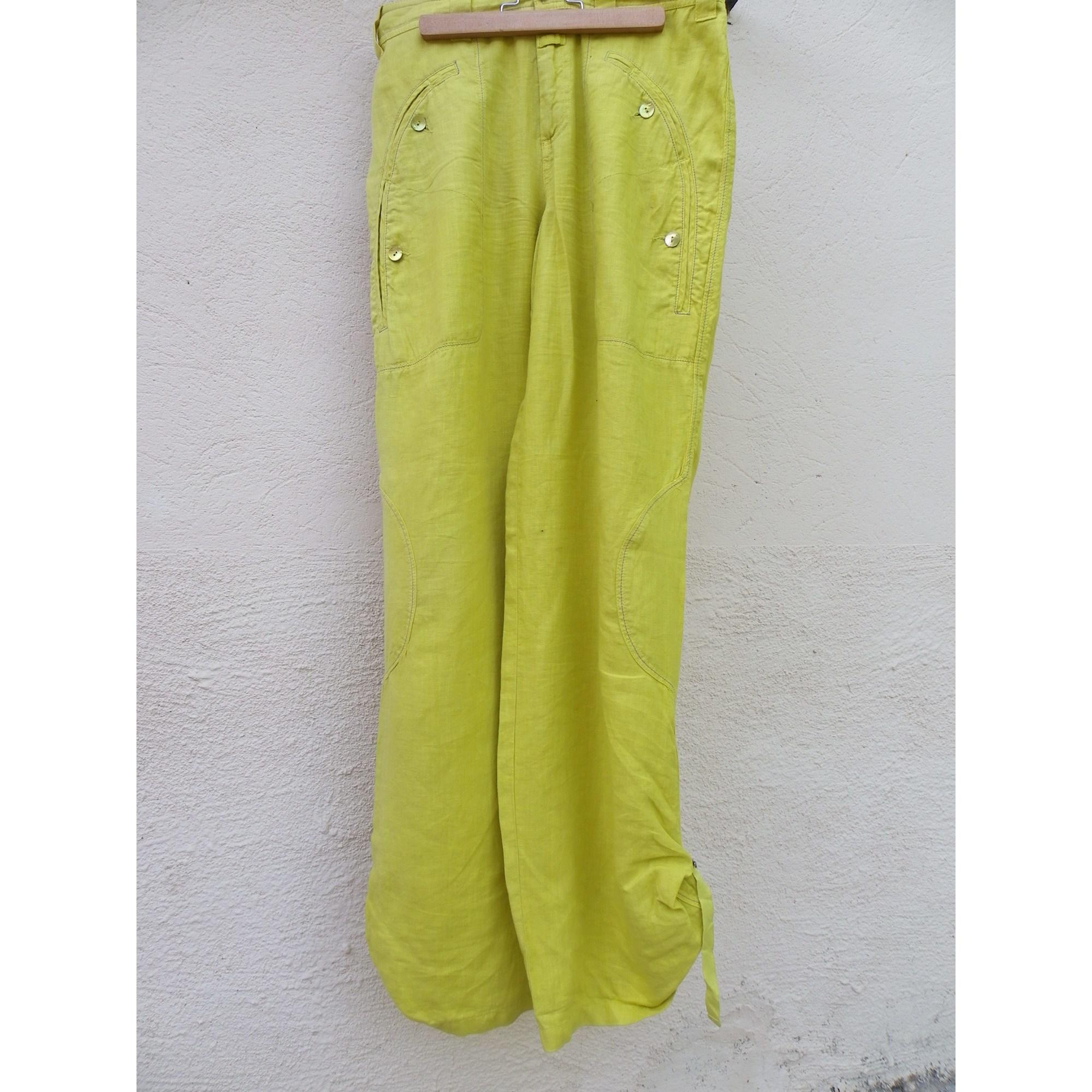Pantalon large ONE STEP Jaune